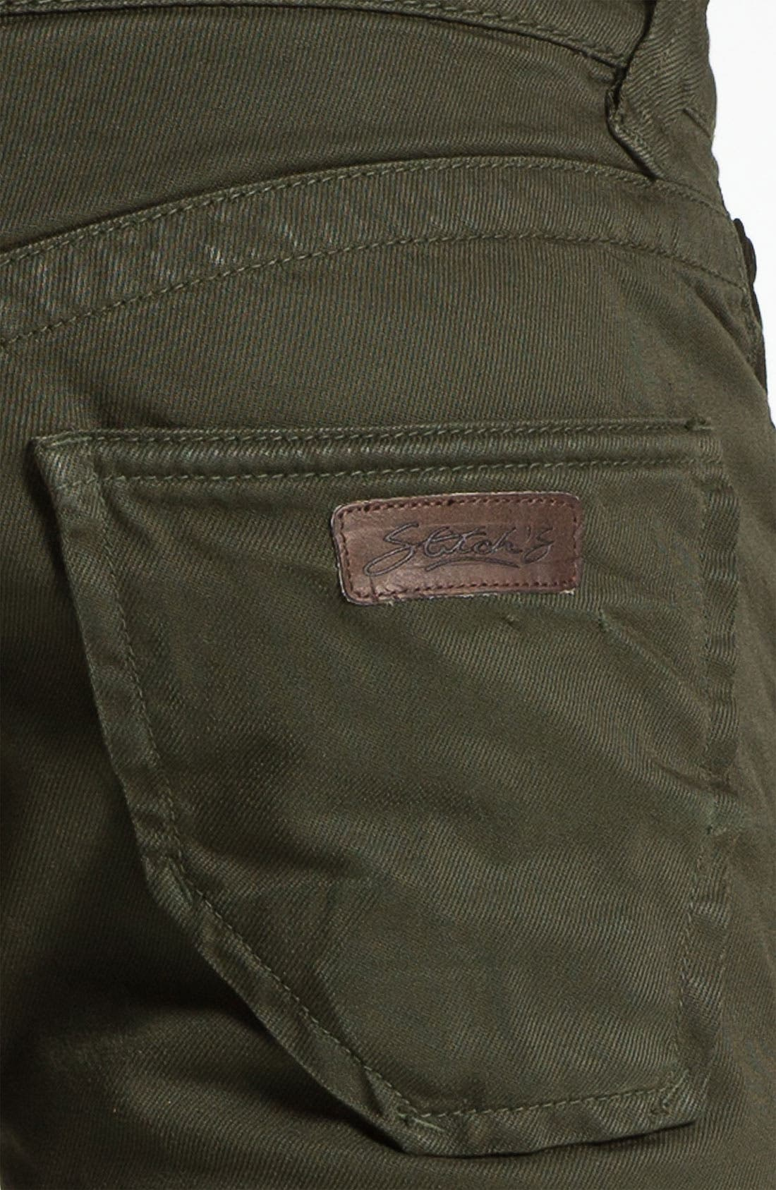 Alternate Image 3  - Stitch's Jeans Twill Straight Leg Pants