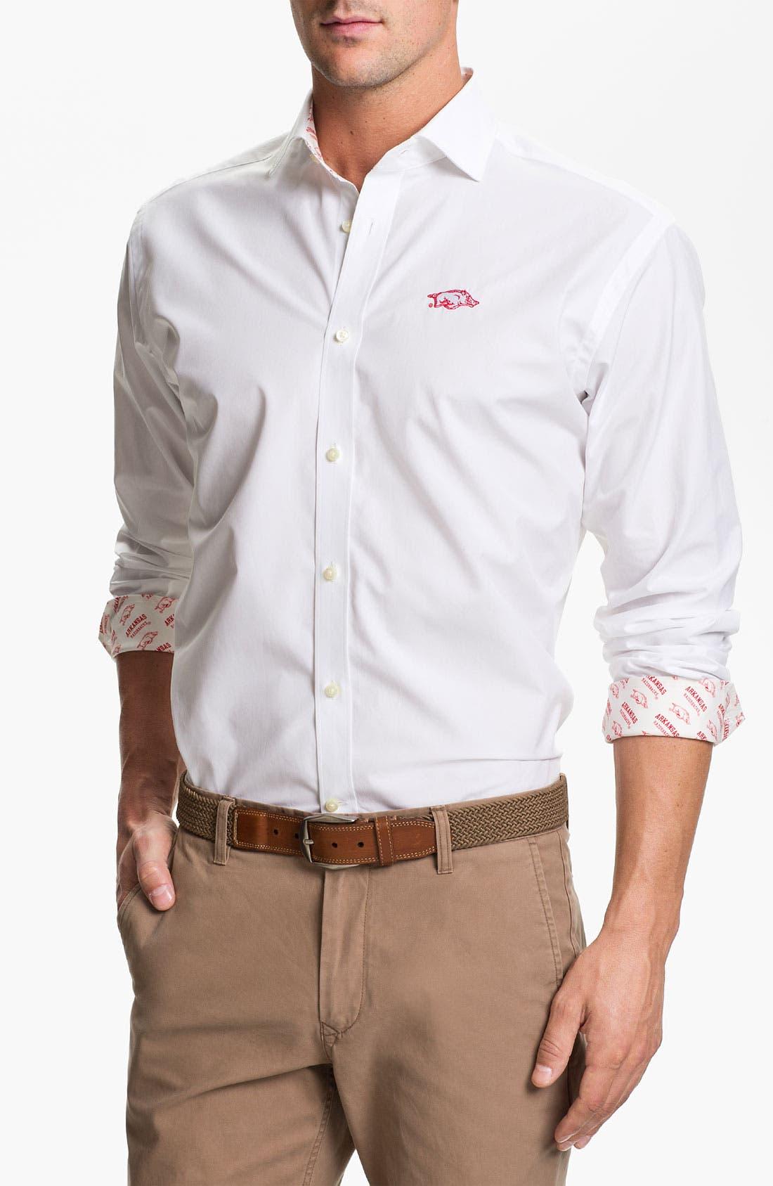Main Image - Thomas Dean 'University of Arkansas' Regular Fit Sport Shirt