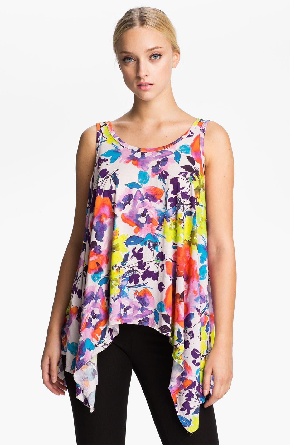 Alternate Image 1 Selected - Alice + Olivia Curved Hem Tank