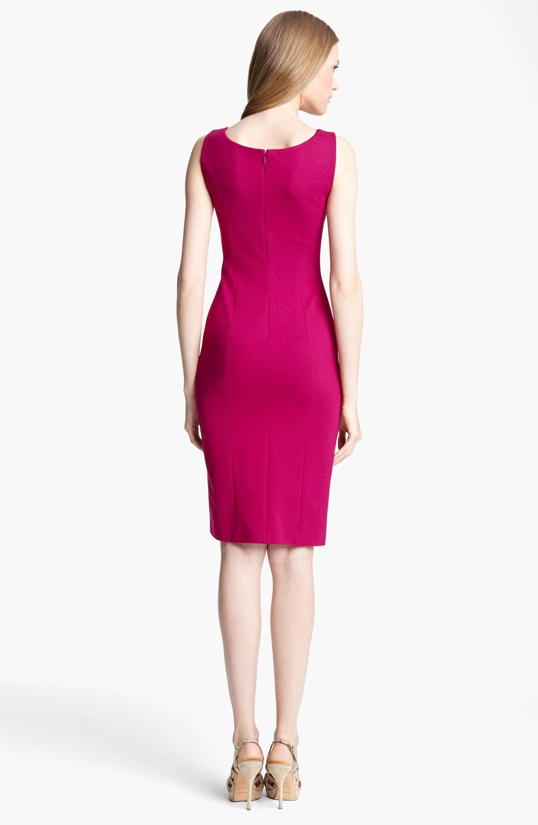 Alternate Image 2  - Armani Collezioni Tuck Detail Jersey Dress