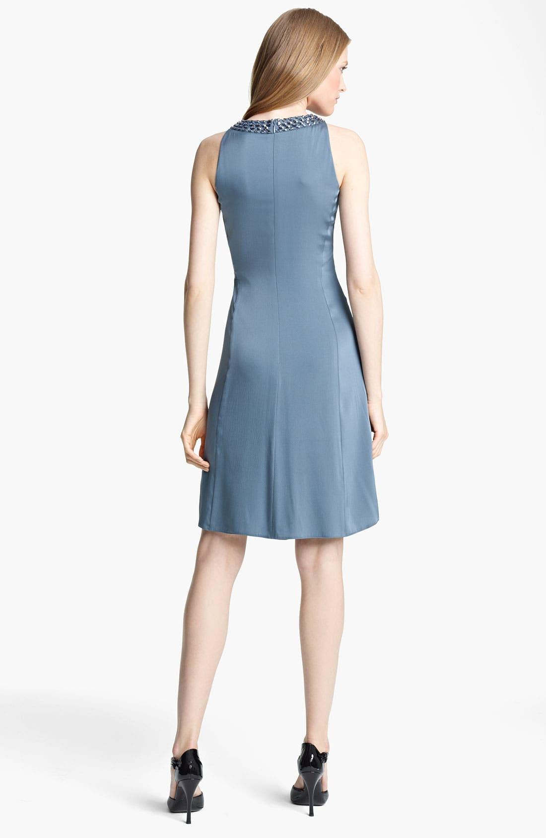 Alternate Image 2  - Armani Collezioni Matte Silk Cocktail Dress