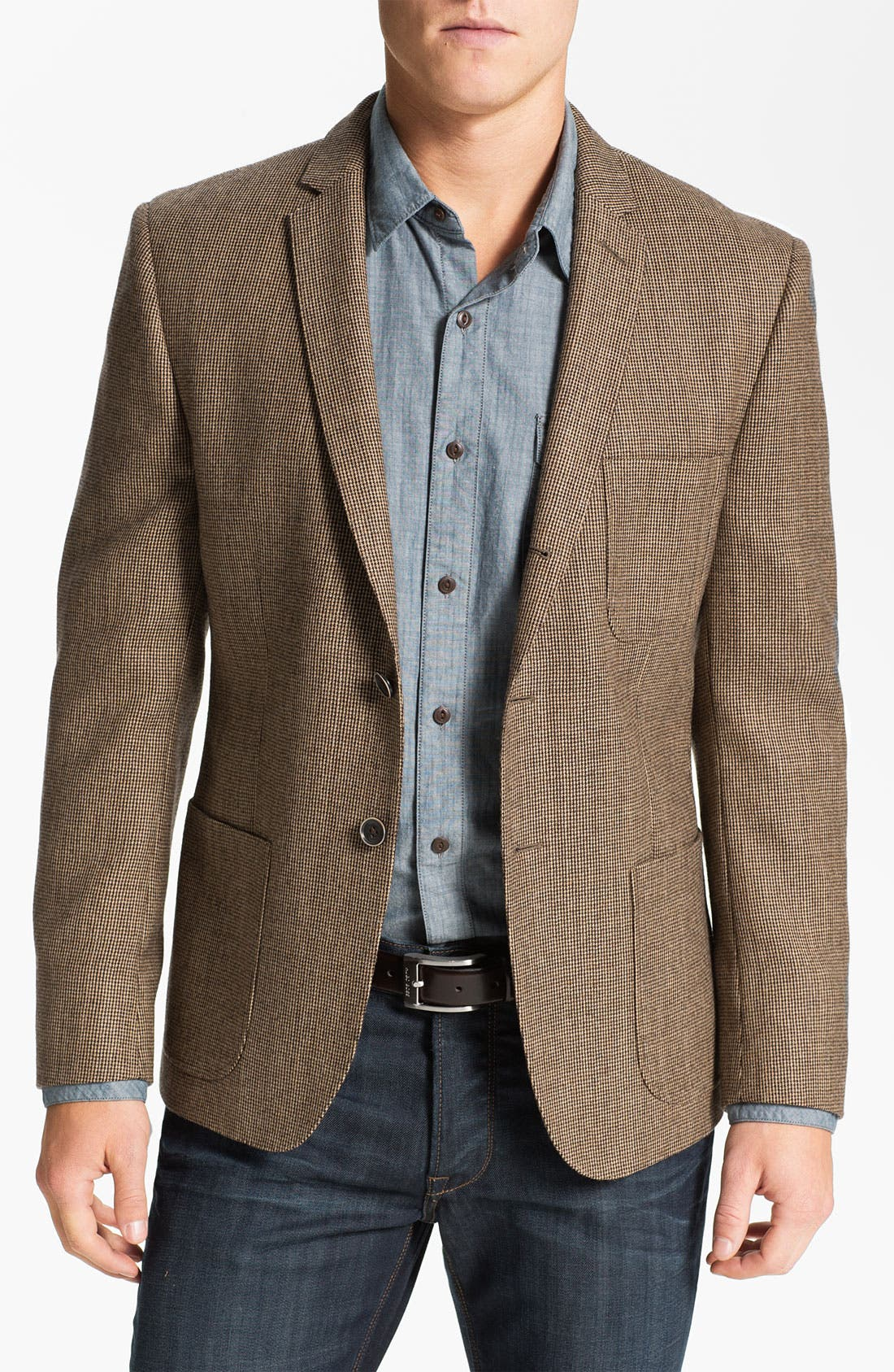 Main Image - Dockers® Three-Button Houndstooth Wool Blazer