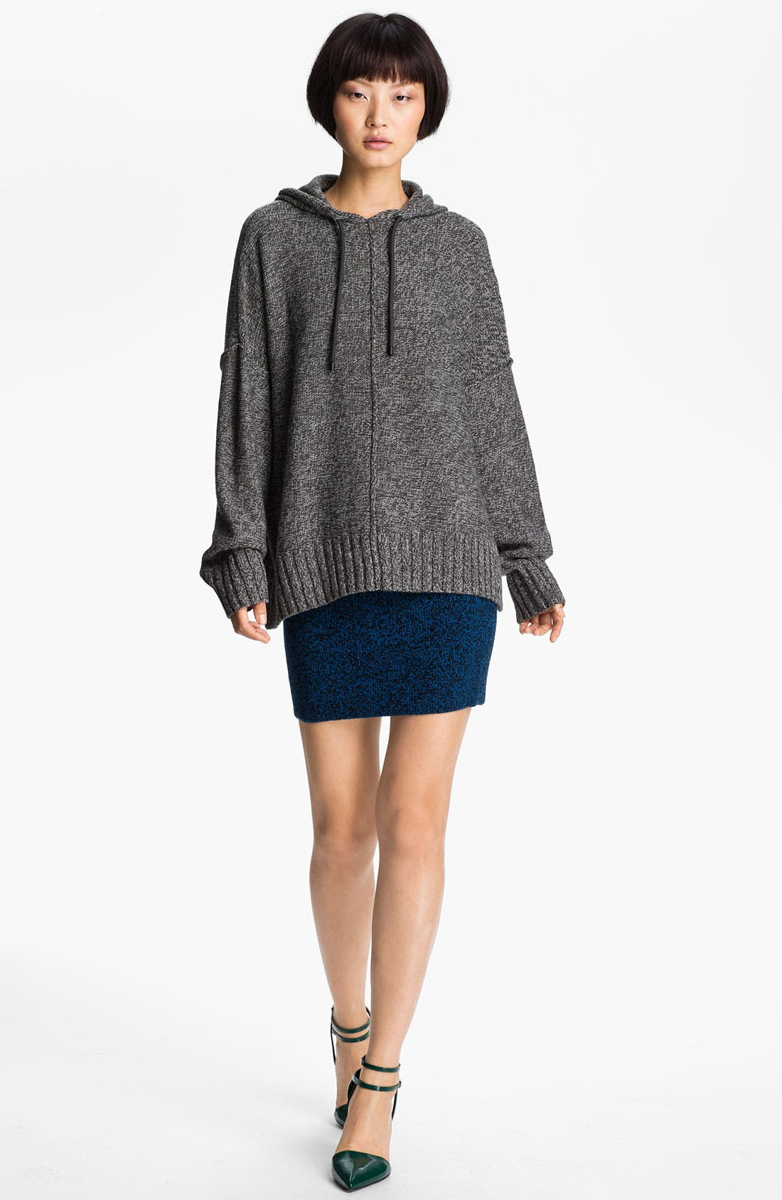 Alternate Image 1 Selected - T by Alexander Wang Boxy Knit Hoodie
