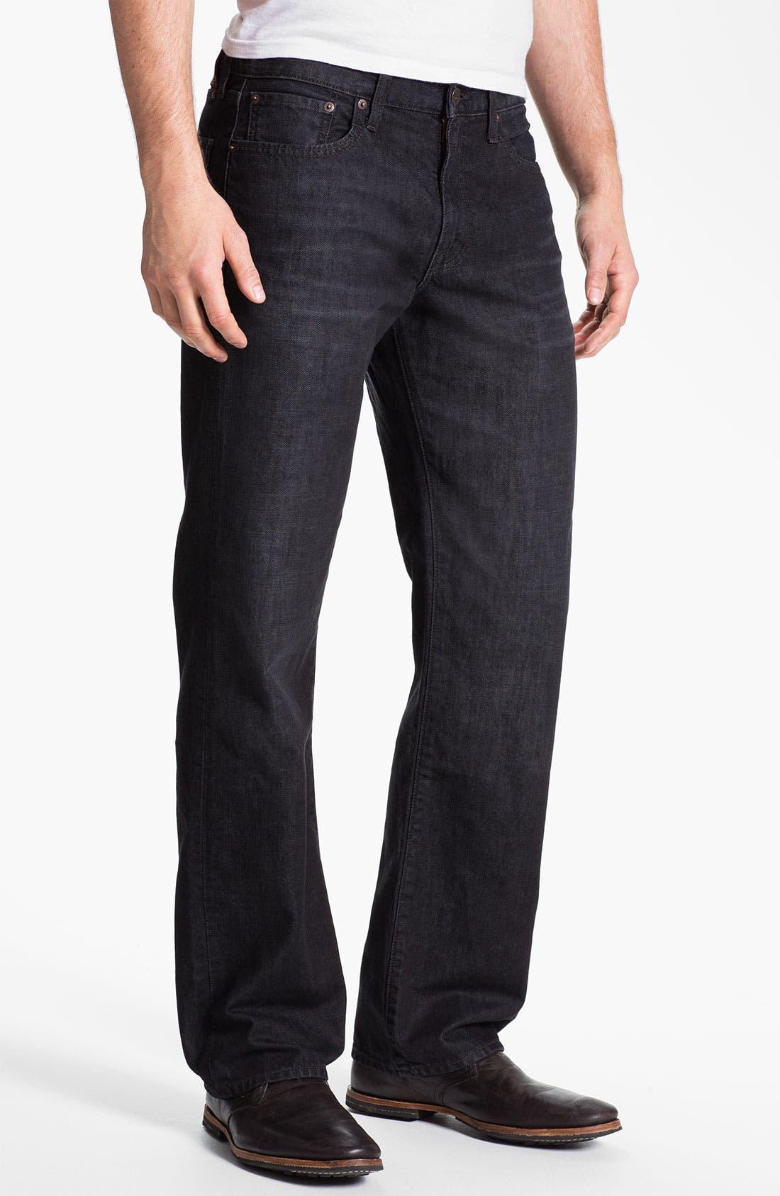 Alternate Image 1 Selected - Lucky Brand Straight Leg Jeans (Dark Sumner)