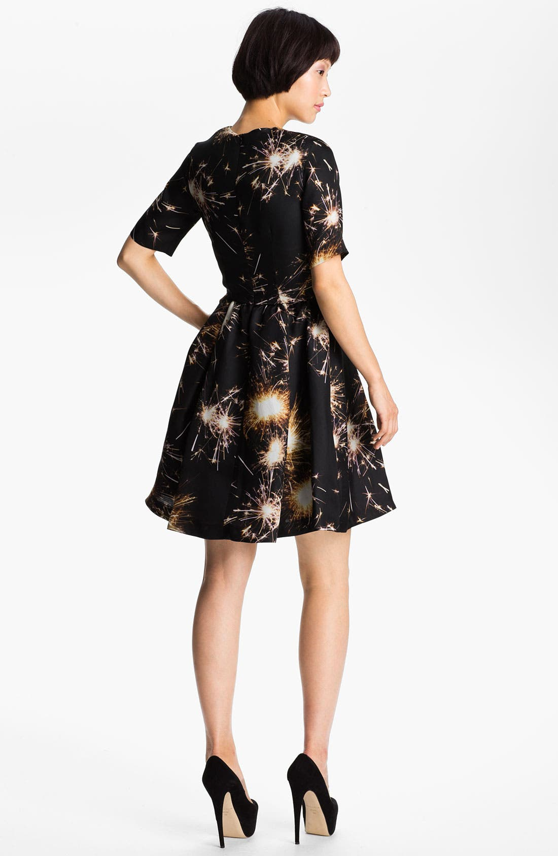 Alternate Image 2  - MSGM Firework Print Silk Gazar Dress