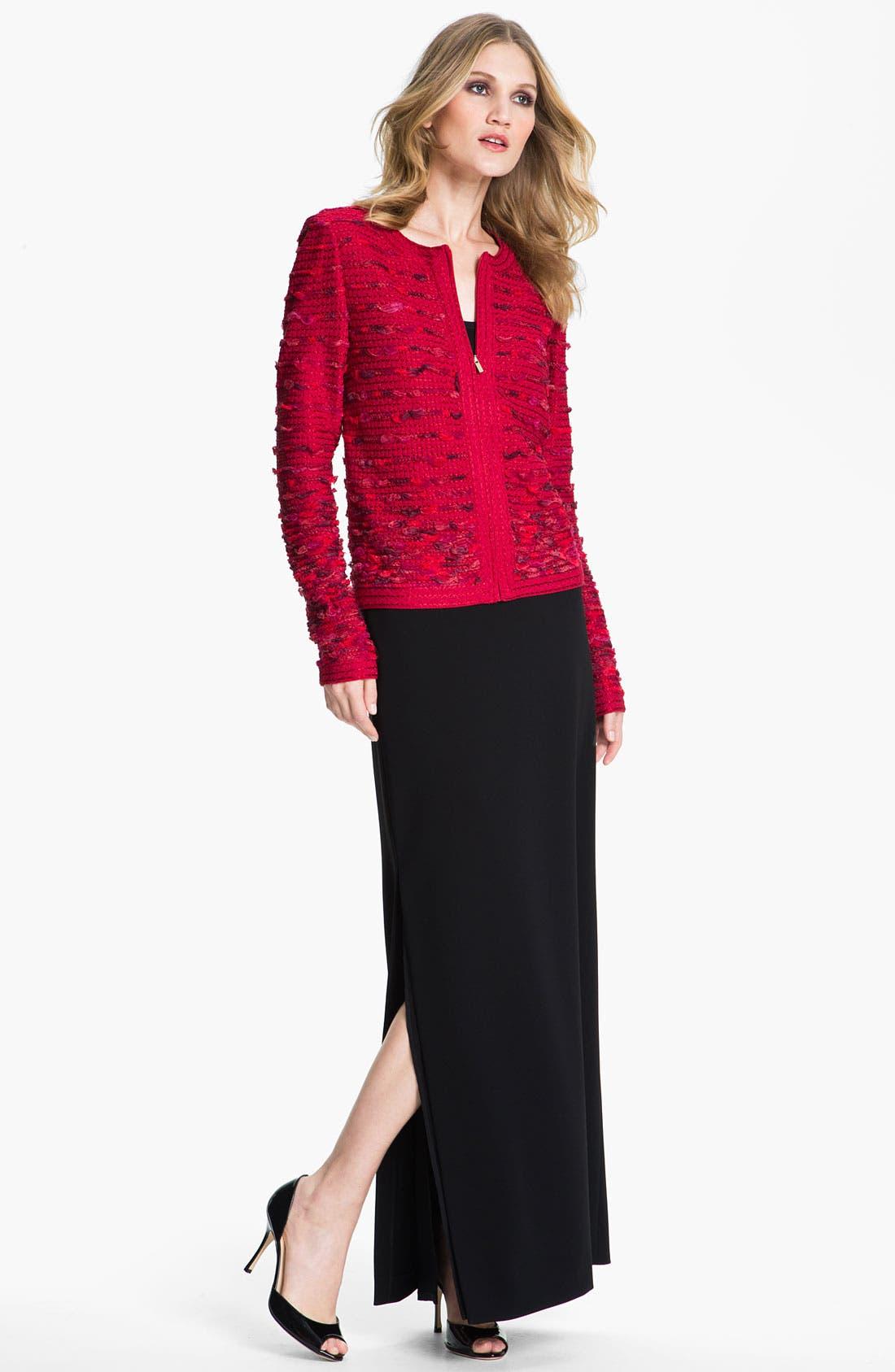 Alternate Image 1 Selected - St. John Collection Crepe Marocain Gown Skirt