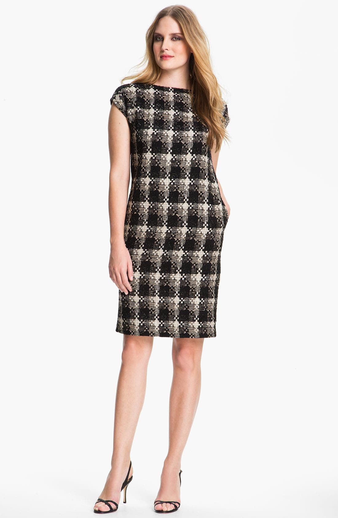 Alternate Image 1 Selected - St. John Collection Macro Plaid Shift Dress