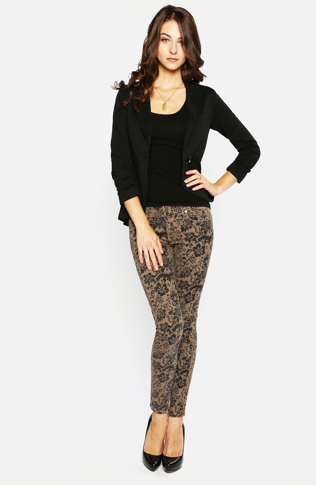 Alternate Image 4  - Paige Denim 'Verdugo' Print Skinny Jeans (Chai/Black)