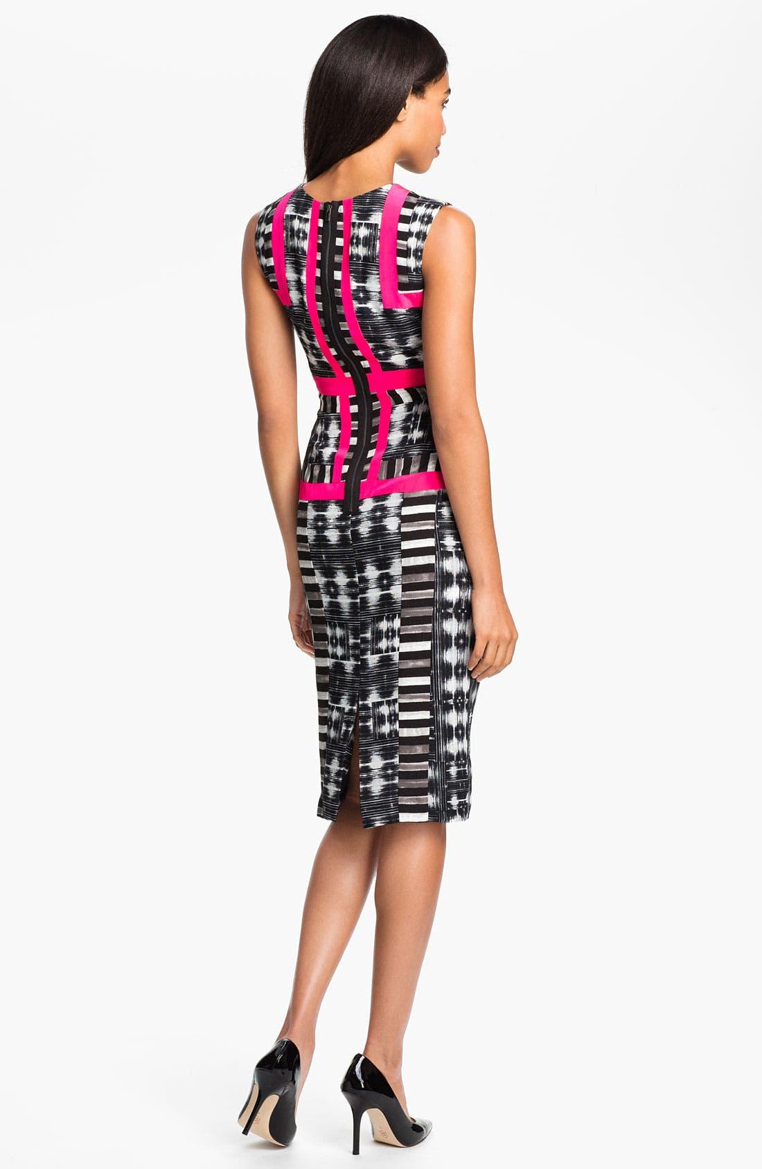 Alternate Image 2  - BCBGMAXAZRIA Print Sleeveless Sheath Dress