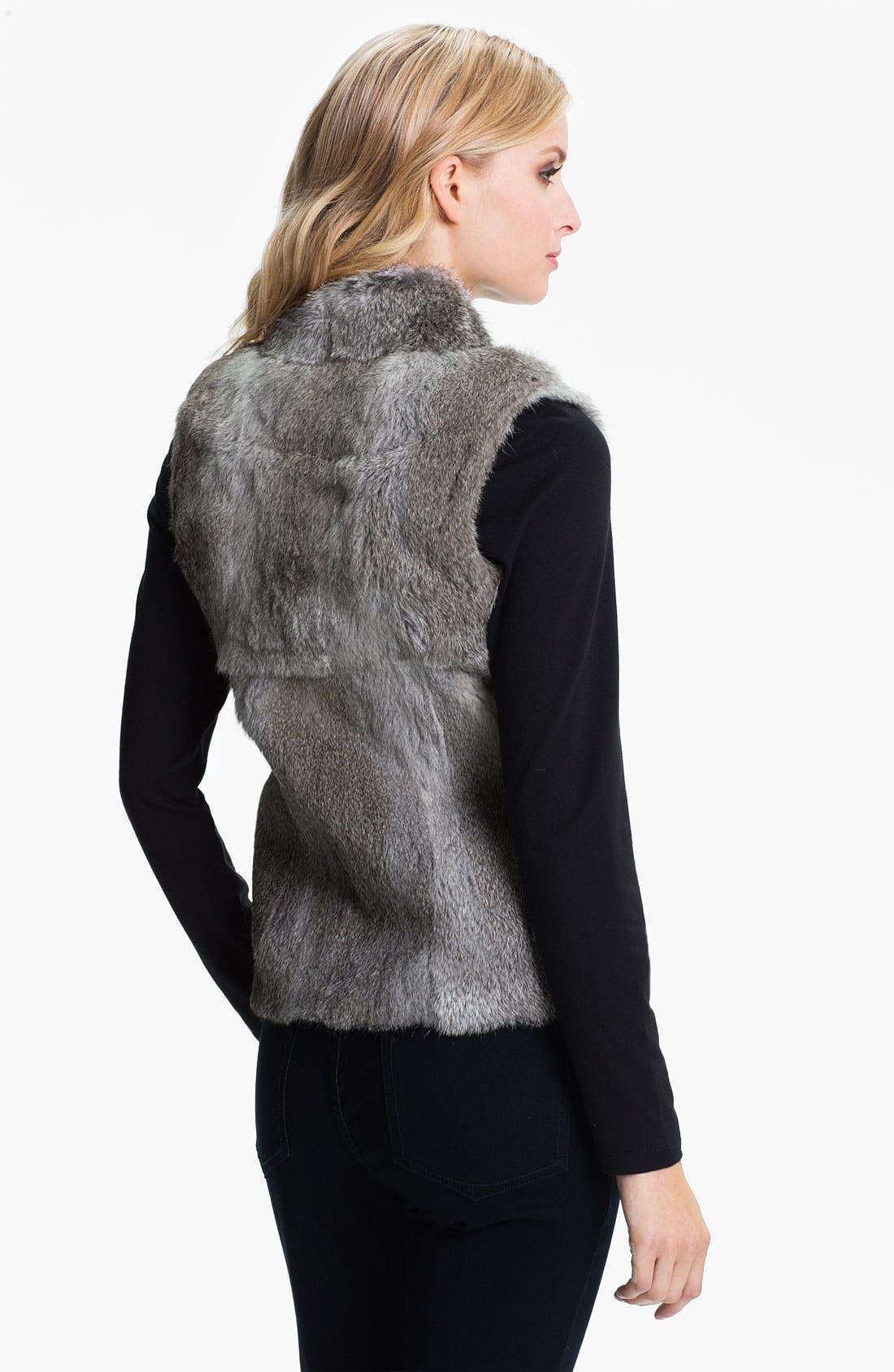 Alternate Image 2  - MICHAEL Michael Kors Genuine Rabbit Fur Vest