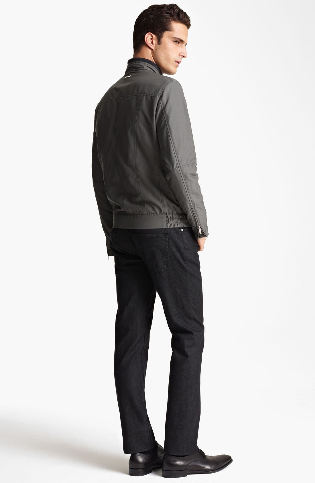 Alternate Image 5  - Armani Collezioni Nylon Moto Jacket