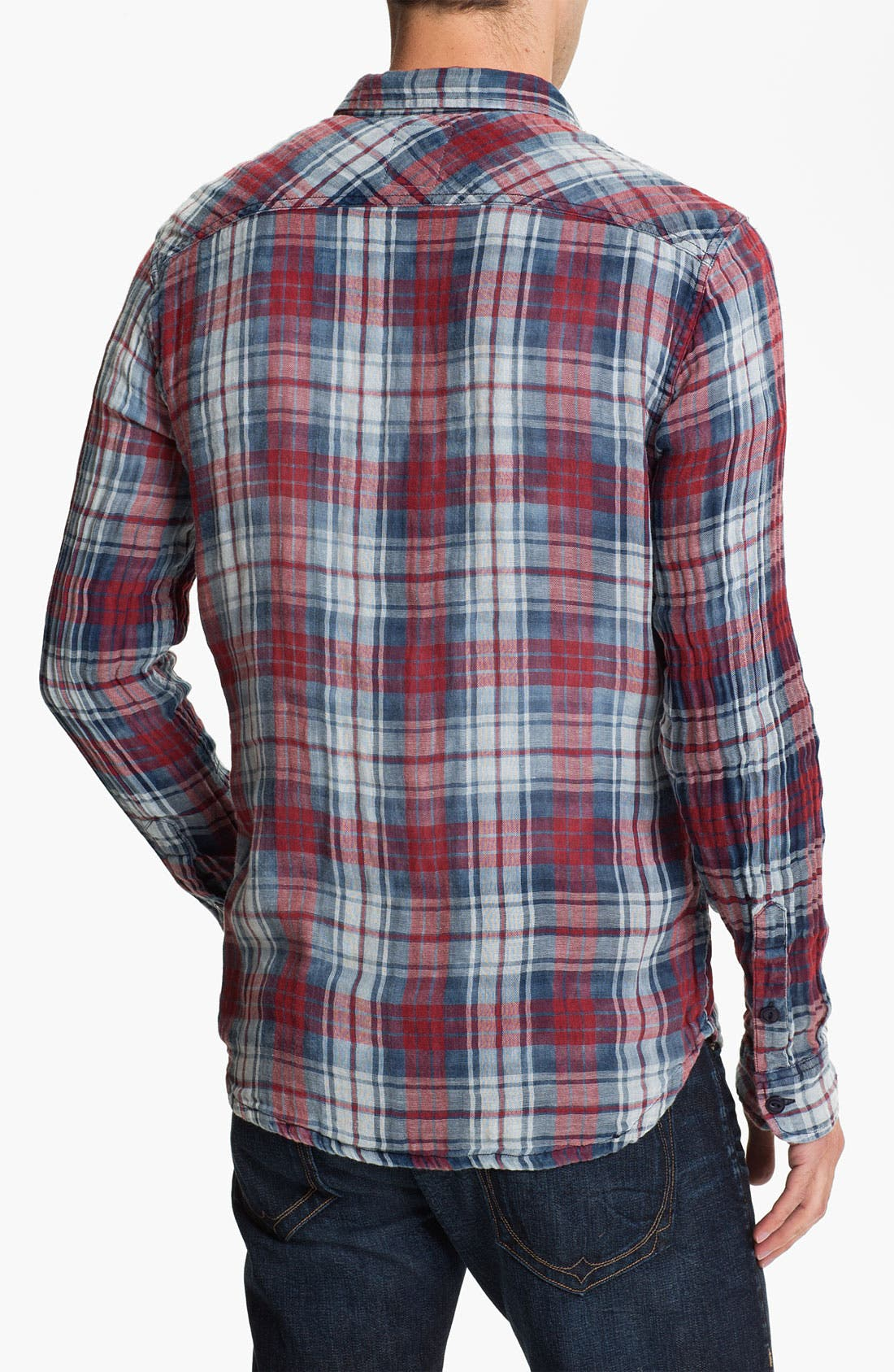 Alternate Image 2  - True Religion Brand Jeans Plaid Flannel Shirt