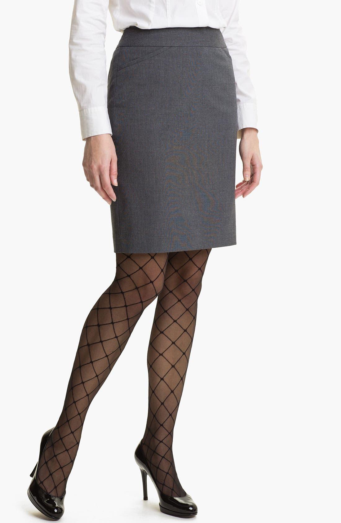 Main Image - Halogen® Micro Texture Pencil Skirt