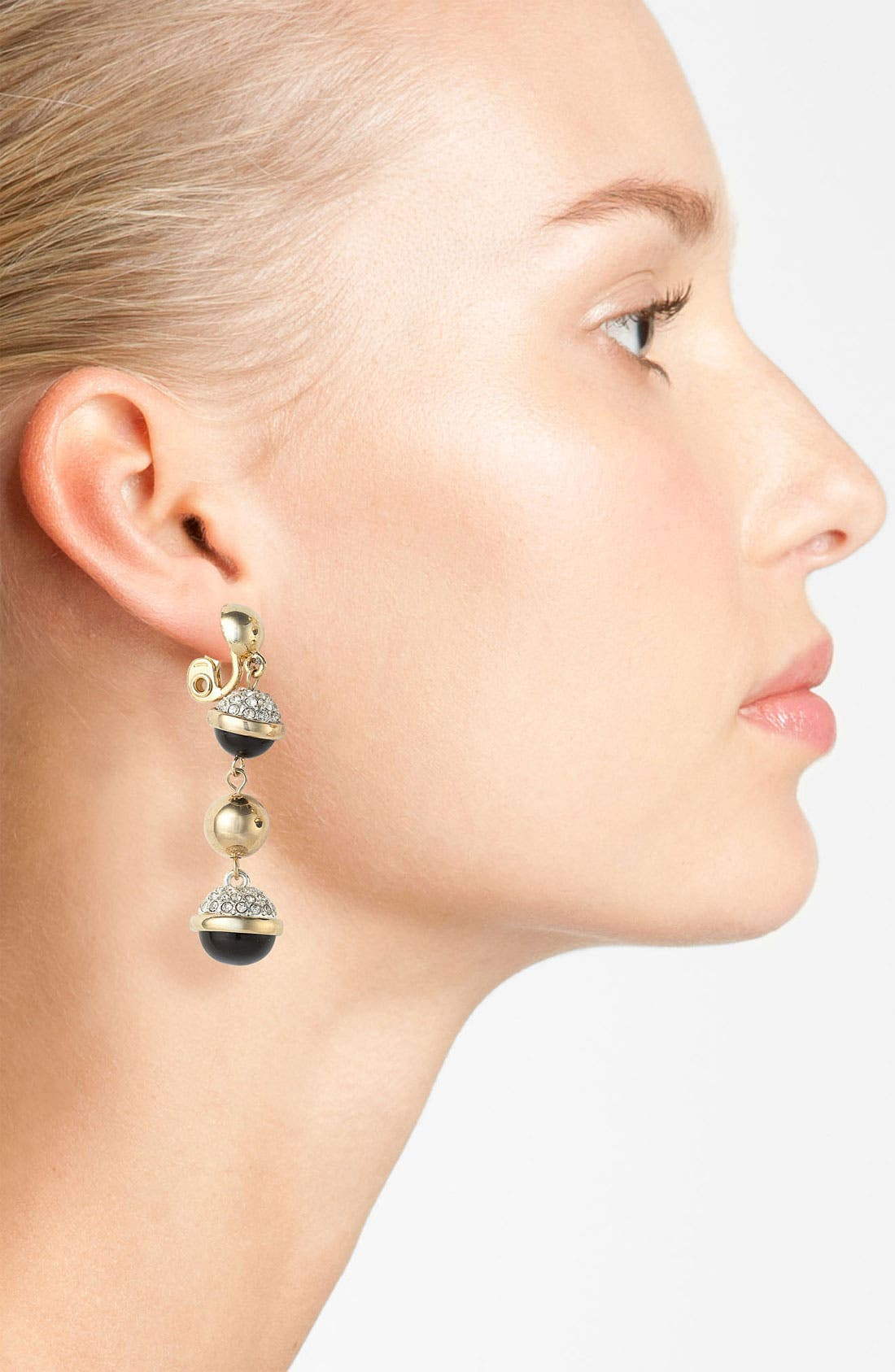 Alternate Image 2  - Anne Klein Linear Clip Earrings