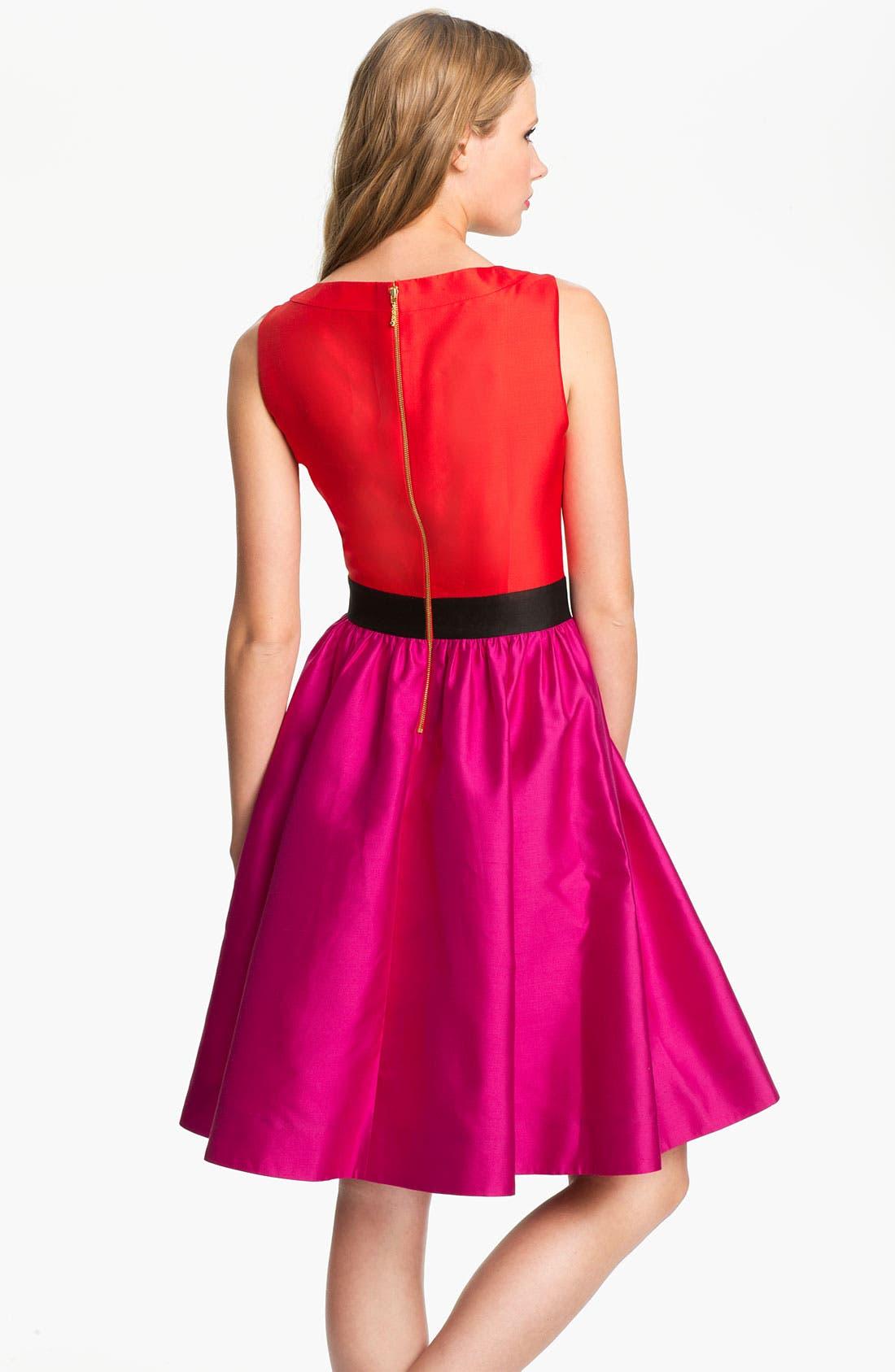 Alternate Image 2  - kate spade new york 'normandy' silk blend fit & flare dress