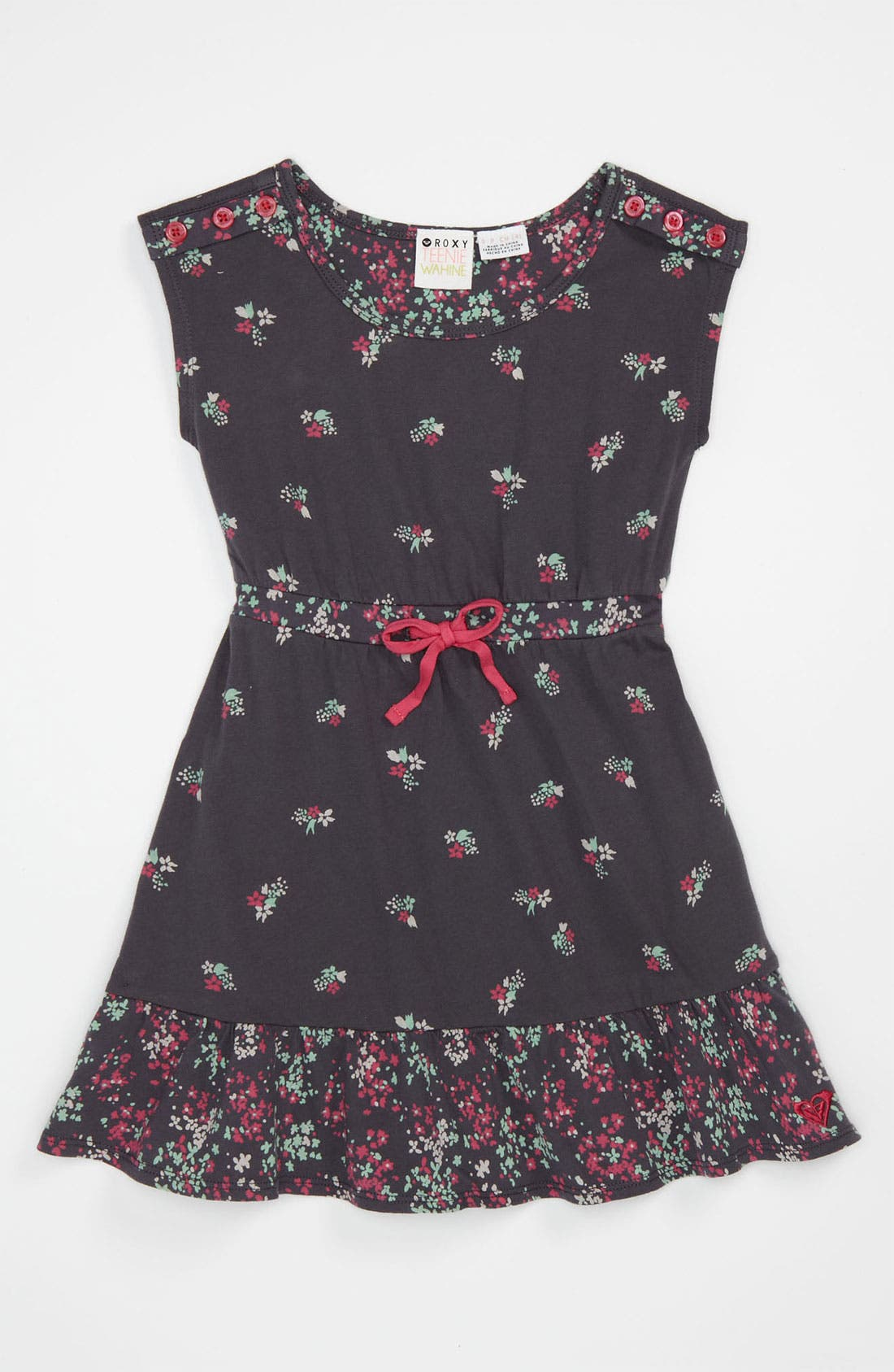 Main Image - Roxy 'Tinsel' Floral Dress (Little Girls)