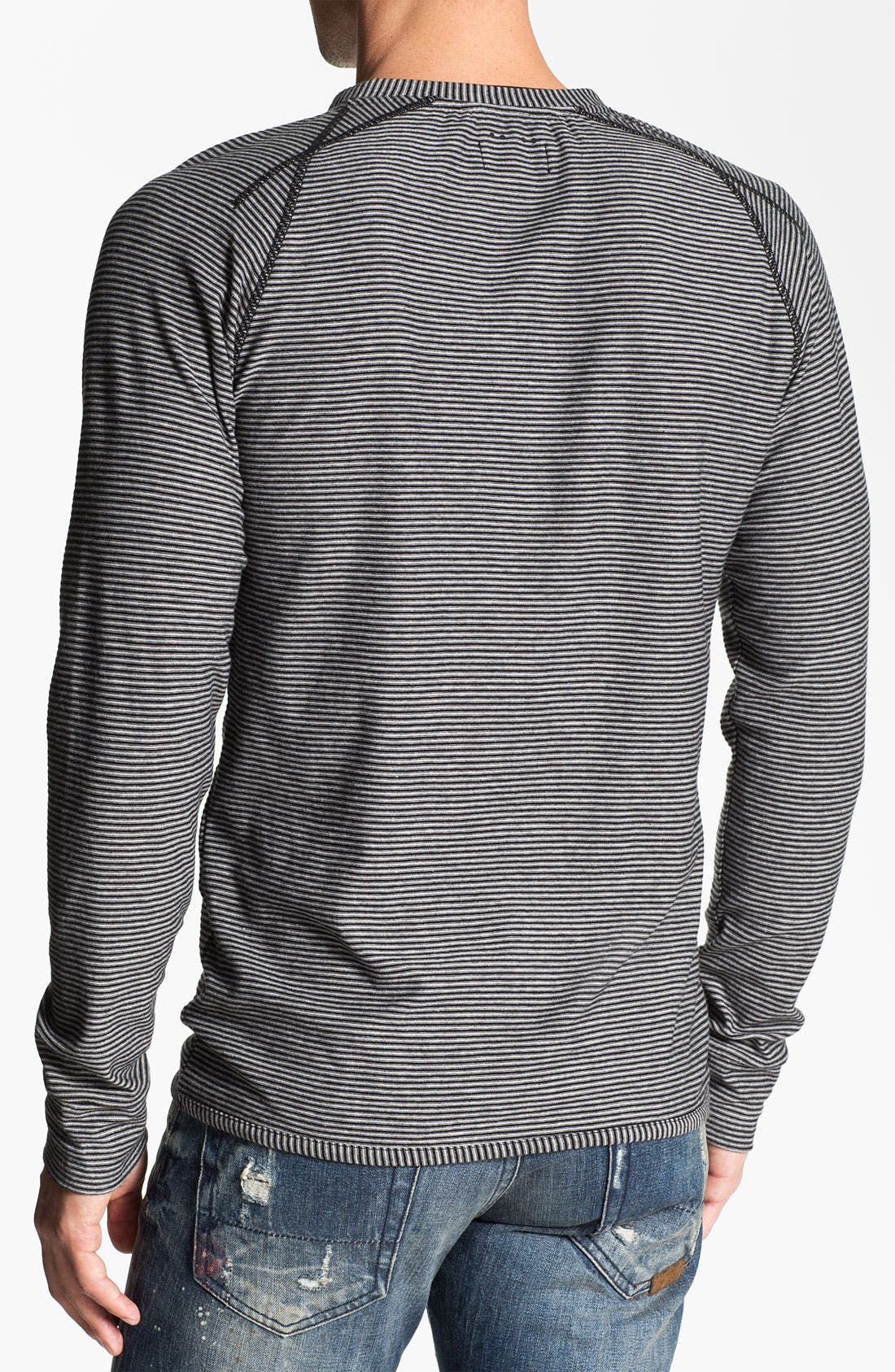 Alternate Image 2  - J.C. Rags Stripe Raglan Sleeve Henley