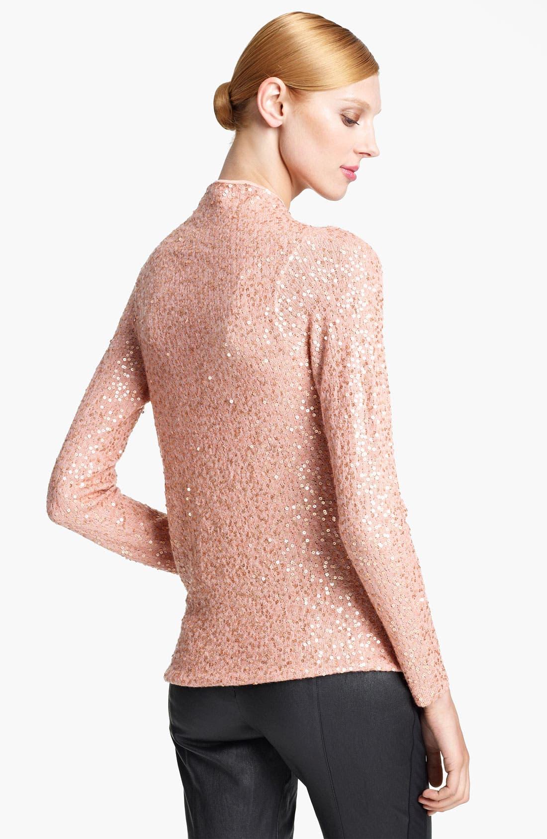 Alternate Image 2  - Donna Karan Collection Sequin Cashmere & Silk Top