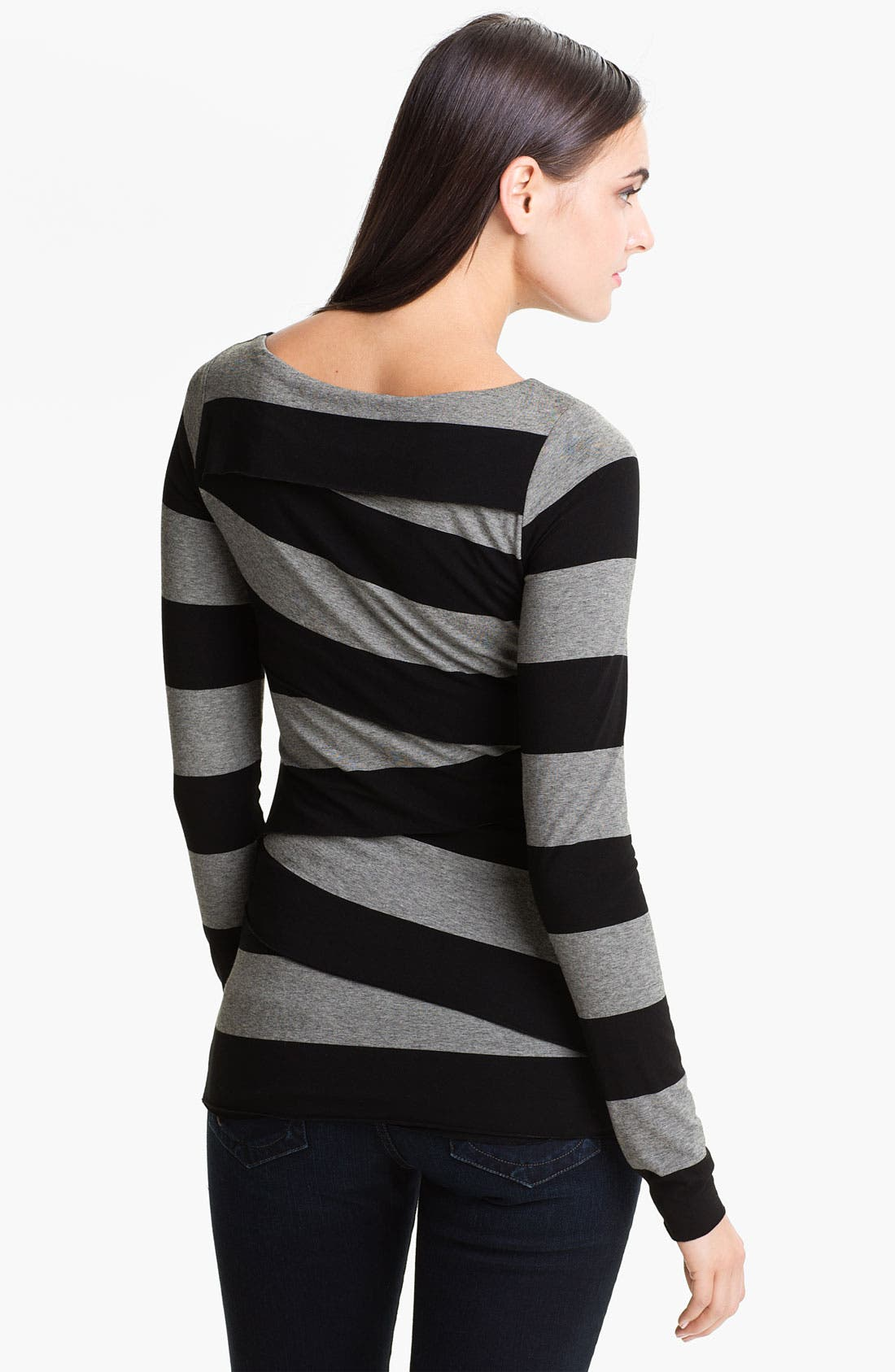 Alternate Image 2  - Vince Camuto Wide Stripe Zigzag Top