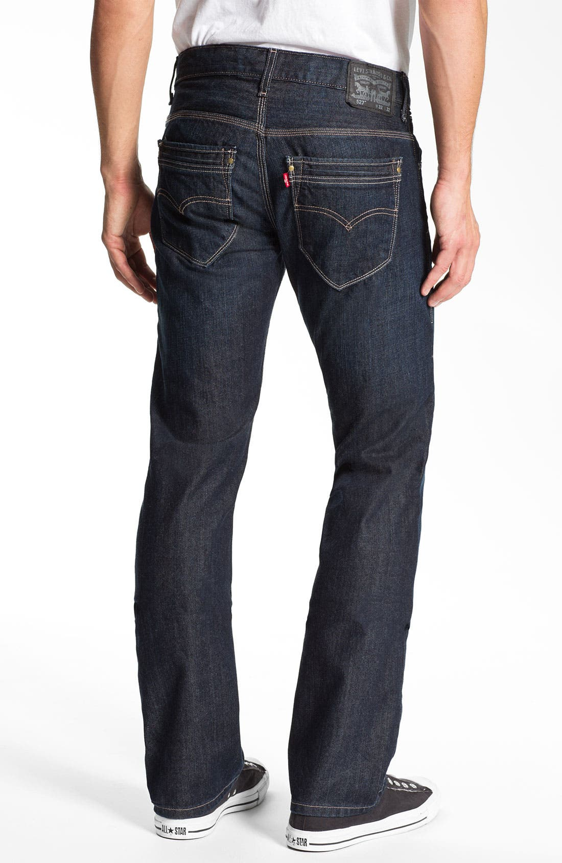 Alternate Image 1 Selected - Levi's® '527™' Slim Bootcut Jeans (Midnight Train)