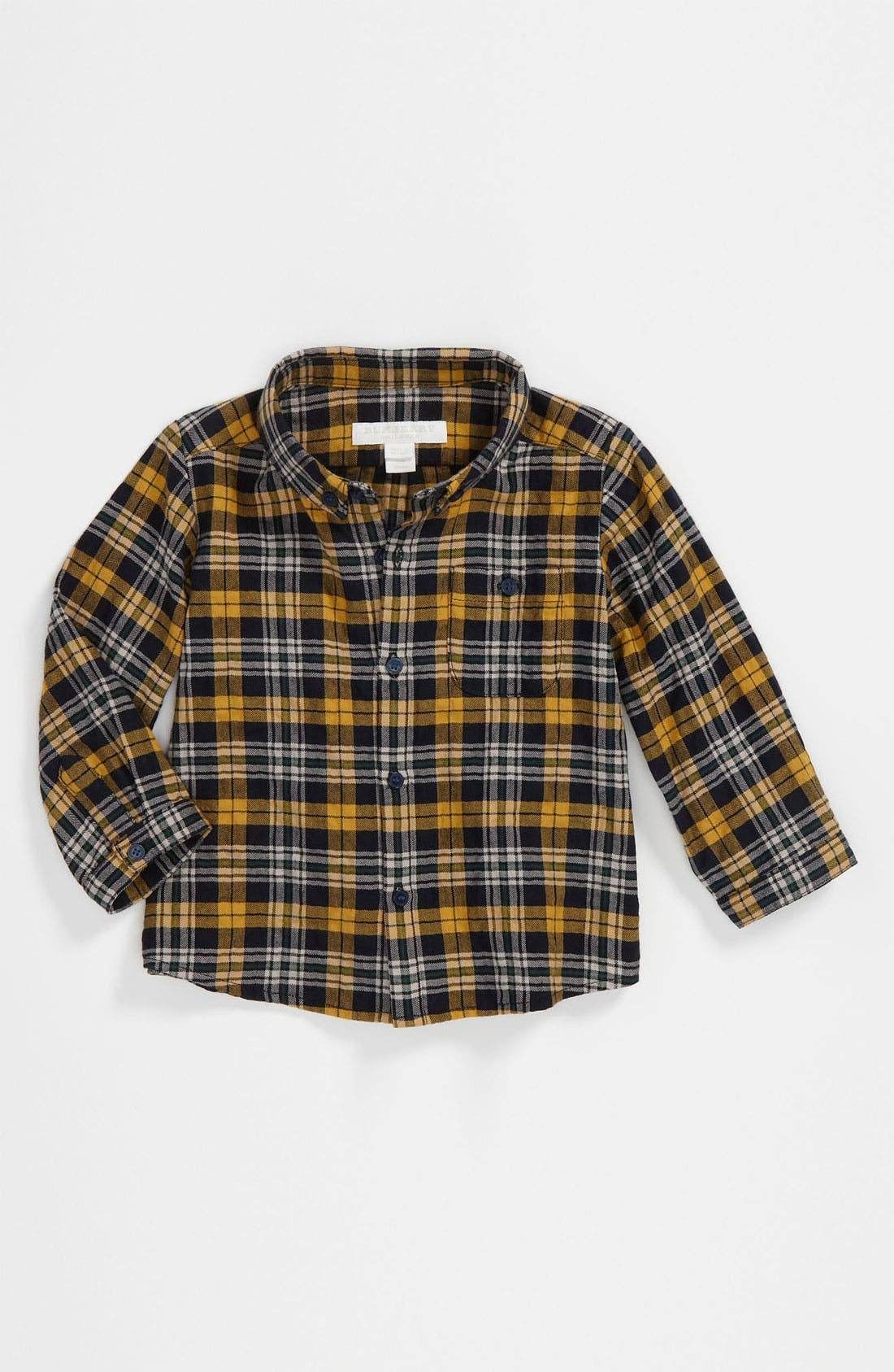 Main Image - Burberry Check Print Woven Shirt (Infant)