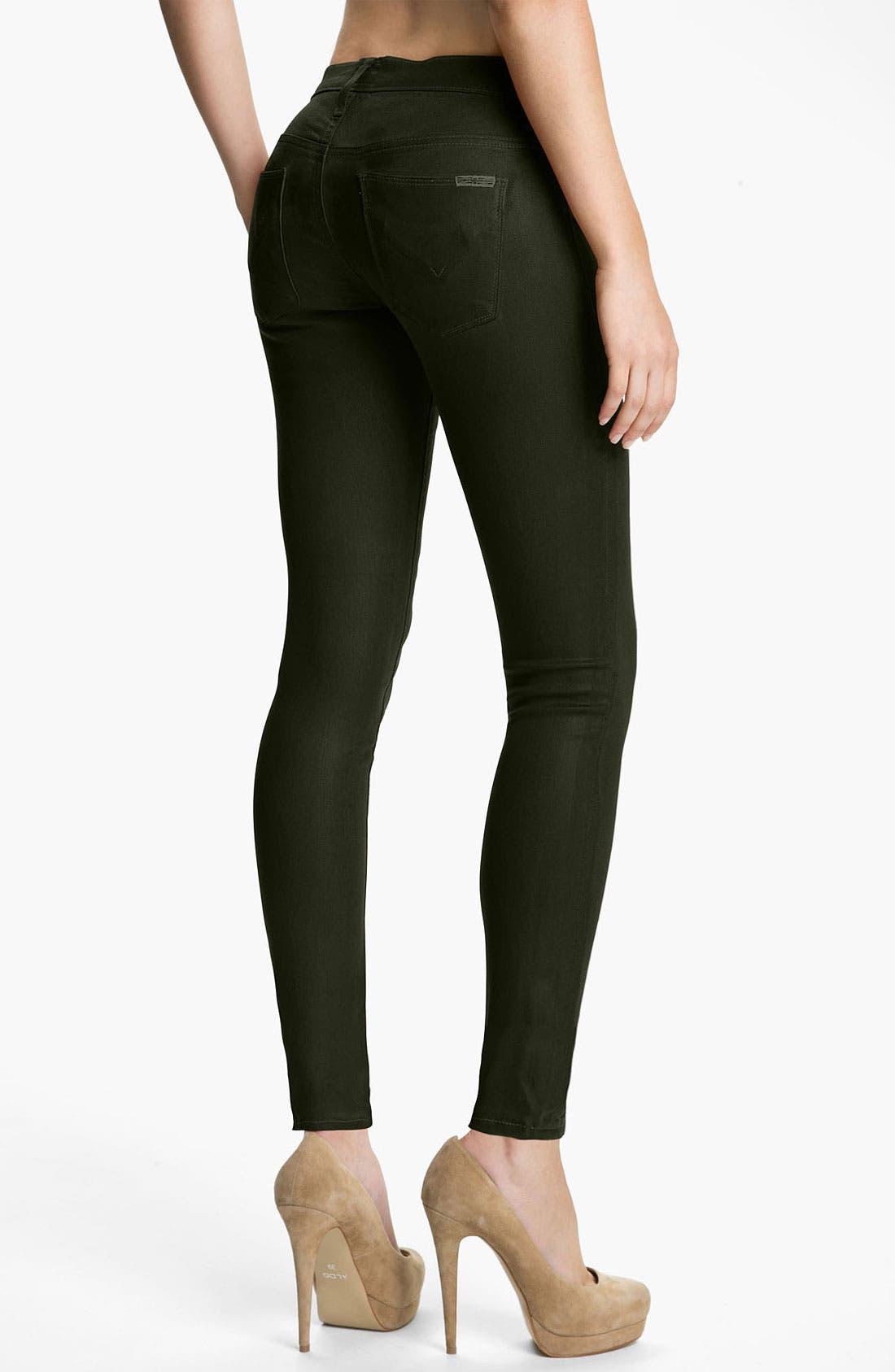 Alternate Image 2  - Hudson Jeans 'Krista' Super Skinny Jeans (Fern Wax)