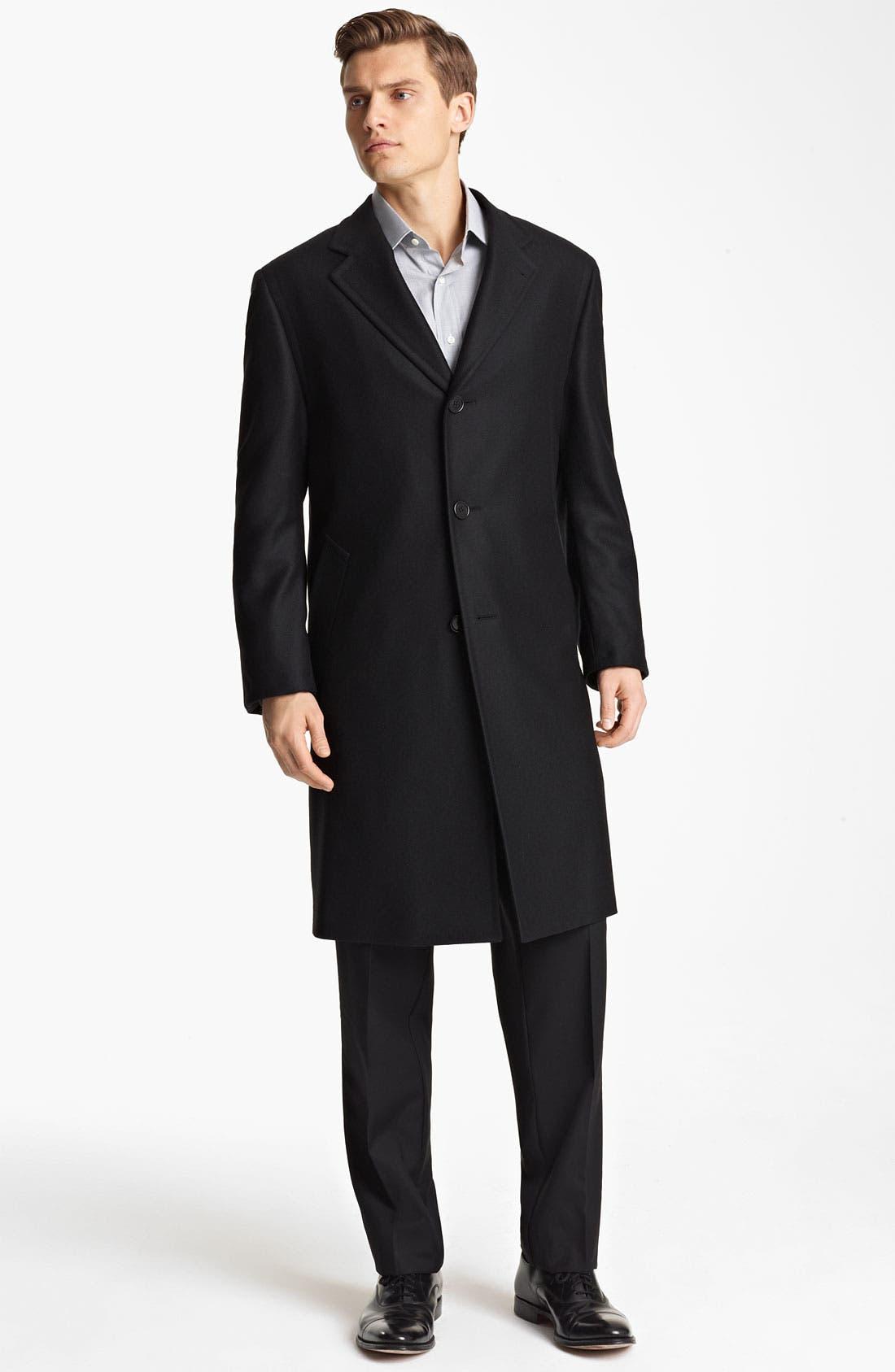 Alternate Image 1 Selected - Canali Wool Top Coat