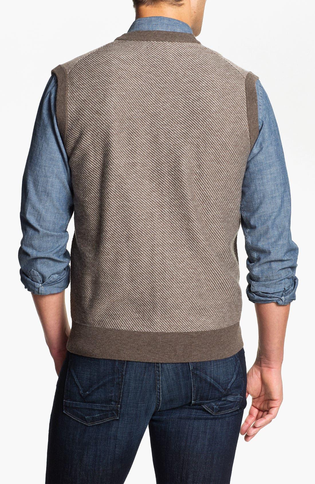 Alternate Image 2  - Toscano Merino Wool Blend Sweater Vest