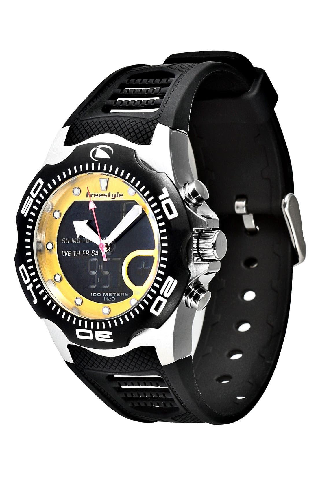 Main Image - Freestyle 'Shark x 2.0' Dual Movement Sport Watch, 42mm
