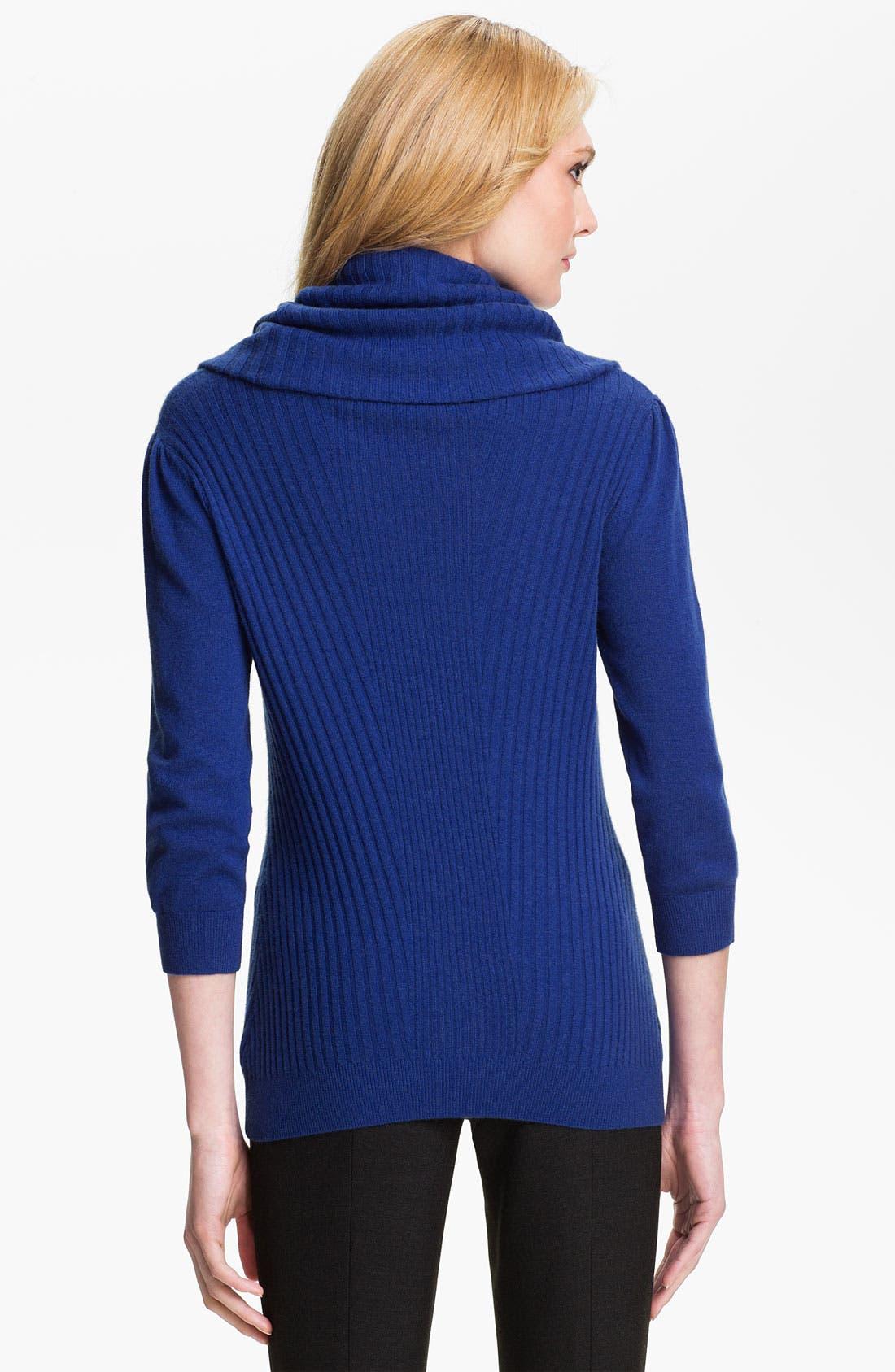 Alternate Image 2  - Classiques Entier® Cowl Neck Cashmere Sweater