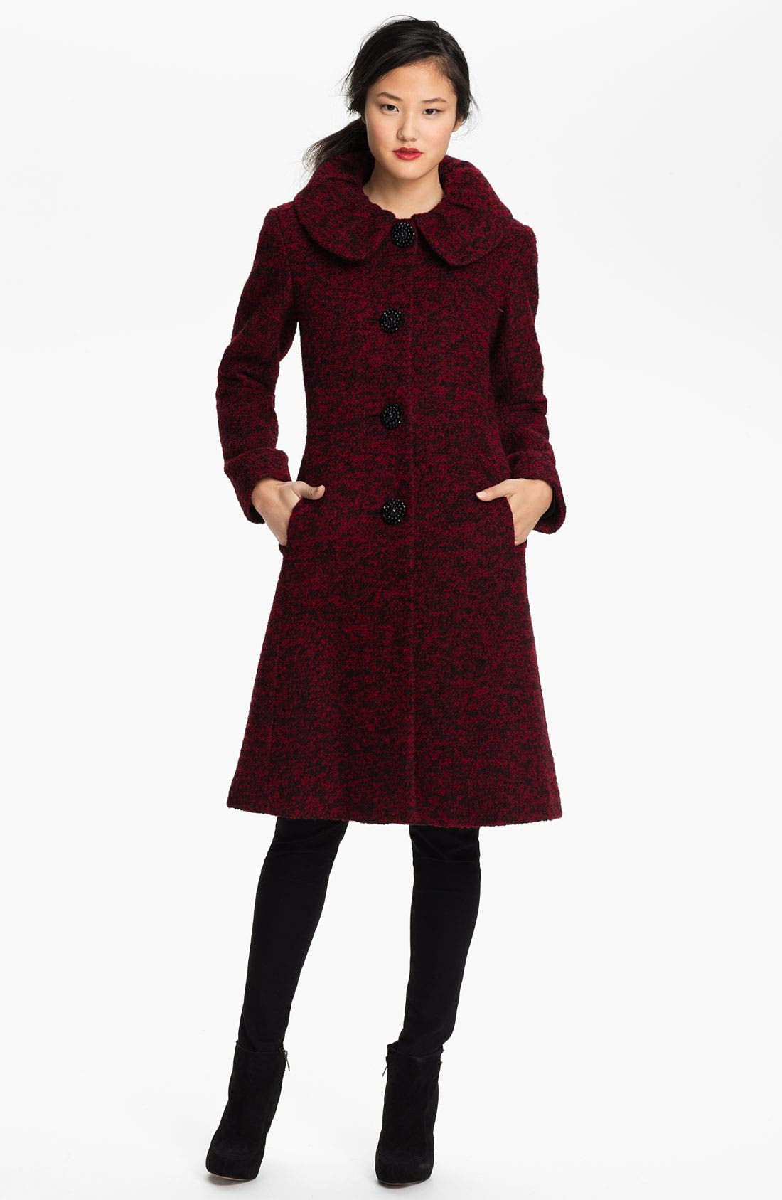 Main Image - Ivanka Trump Single Breasted Tweed Coat (Online Exclusive)