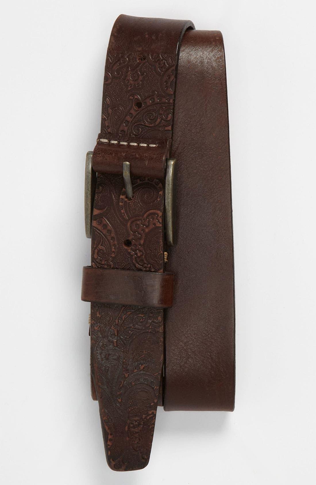 Alternate Image 1 Selected - Robert Graham 'Penniman' Leather Belt