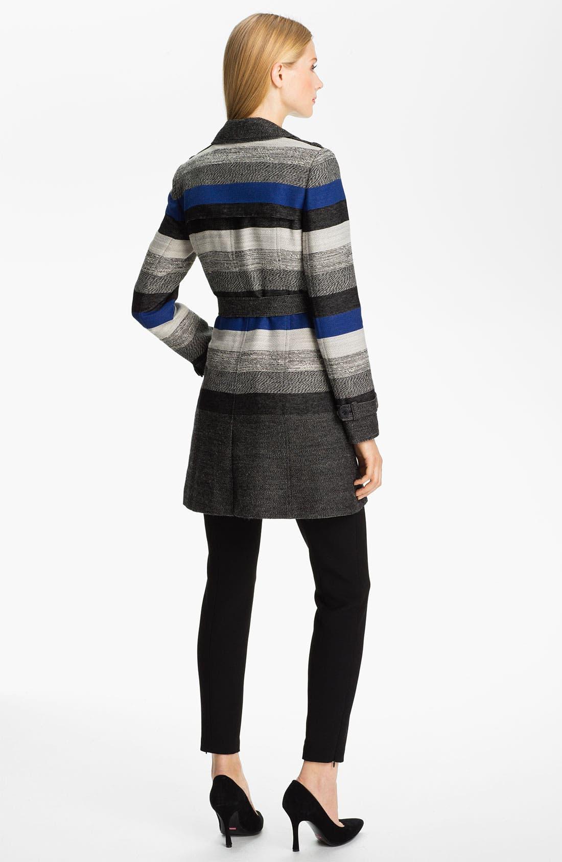 Alternate Image 5  - Classiques Entier® 'Art Stripe' Trench Coat