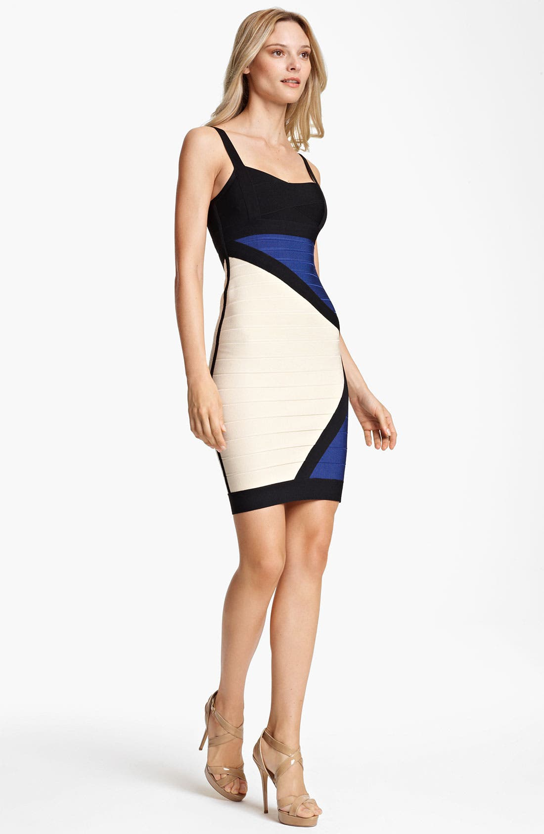 Alternate Image 1 Selected - Herve Leger Colorblock Bandage Dress