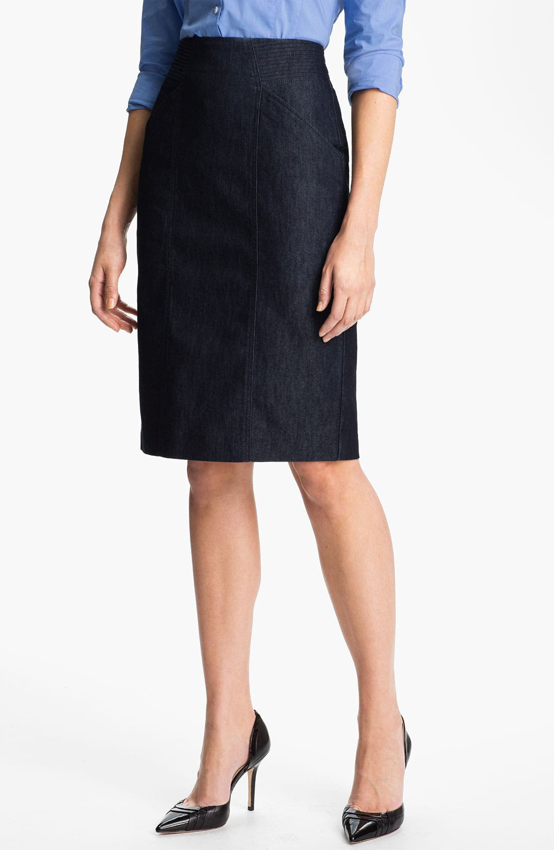 Alternate Image 1 Selected - Halogen® High Waist Denim Skirt