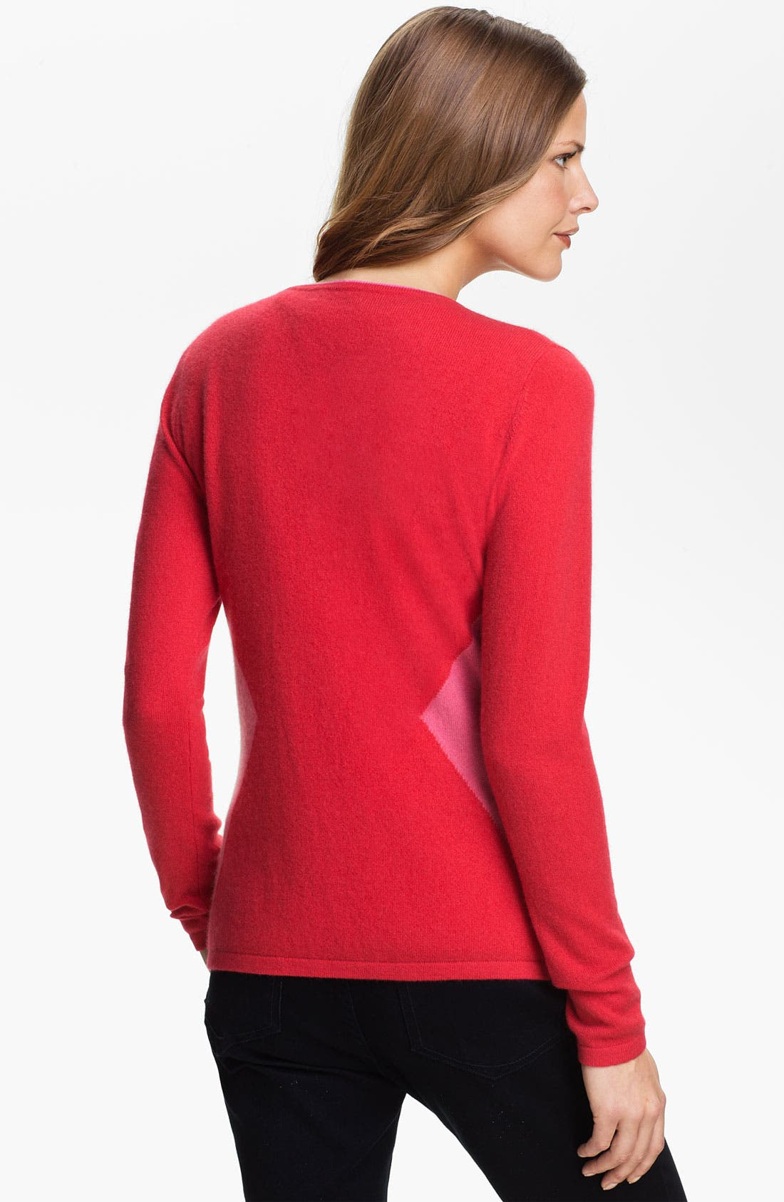 Alternate Image 2  - Lauren Hansen Colorblock Cashmere Cardigan