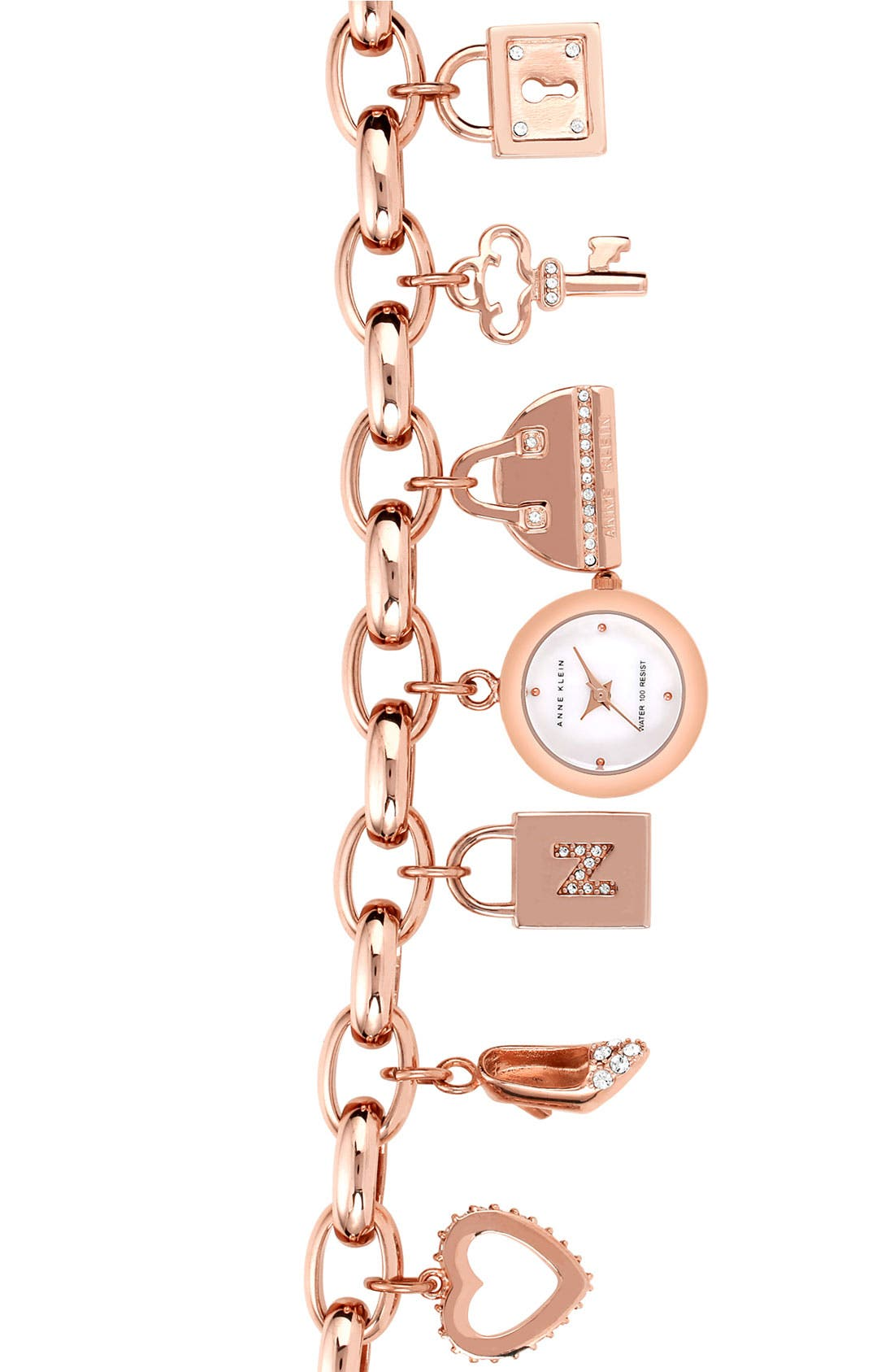 Main Image - Anne Klein Charm Bracelet Watch (Nordstrom Exclusive)