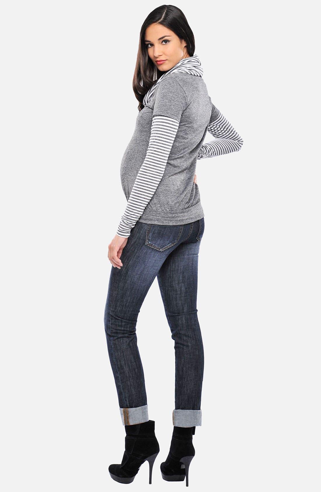 Alternate Image 2  - Olian Turtleneck Maternity Top
