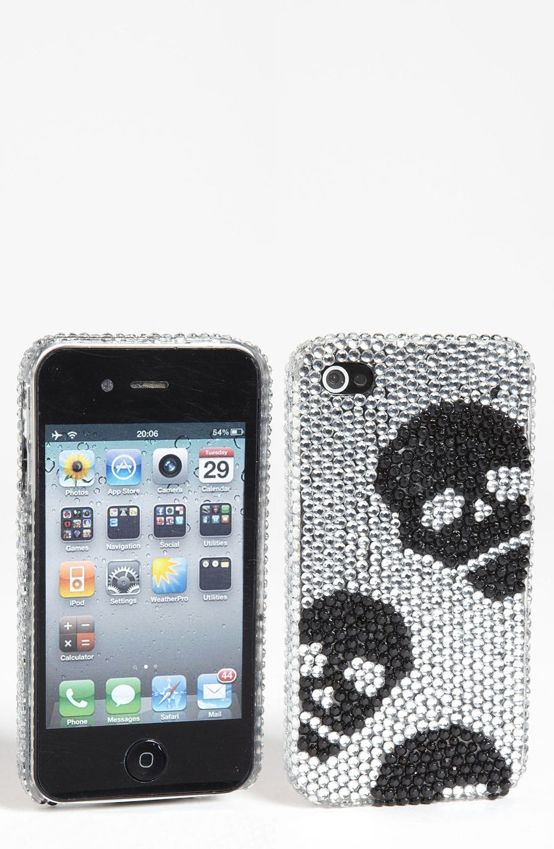 Alternate Image 1 Selected - Tri-Coastal Design iPhone 4 & 4s Skull Rhinestone Case