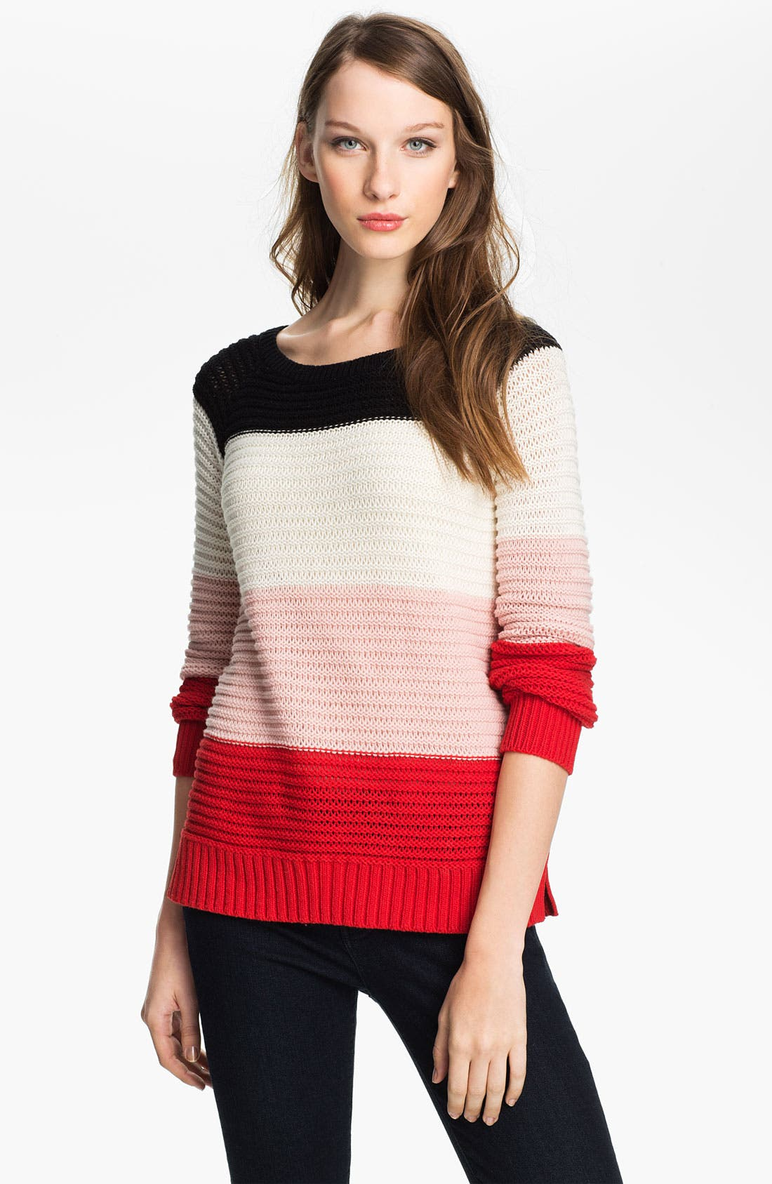Alternate Image 1 Selected - Vince Camuto Wide Stripe Sweater