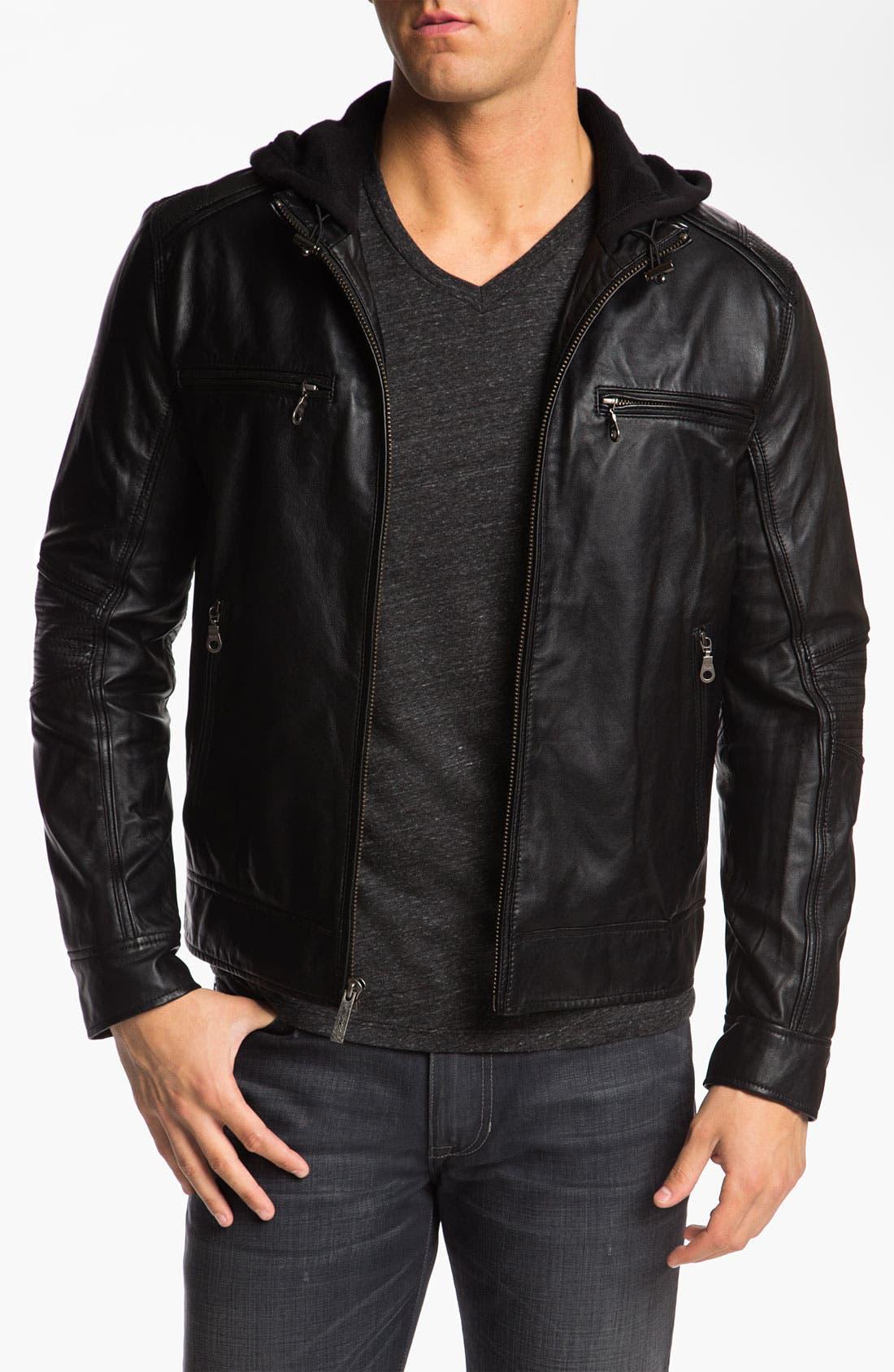Main Image - Howe 'Hellz Bellz' Leather Moto Jacket