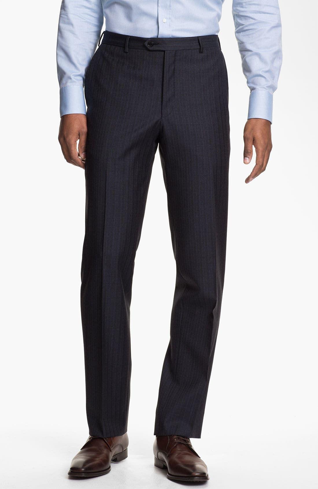 Alternate Image 4  - Pal Zileri Trim Fit Stripe Suit