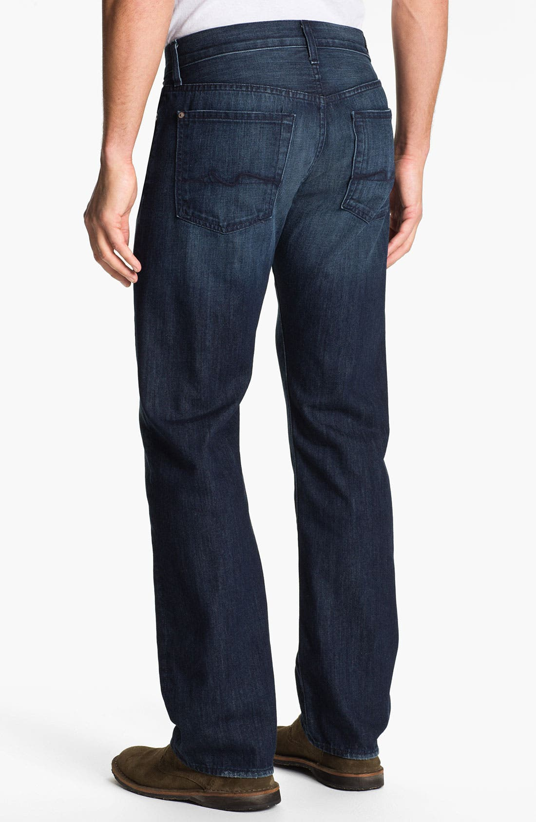 Main Image - 7 For All Mankind® 'Standard' Straight Leg Jeans (Contra Costa)