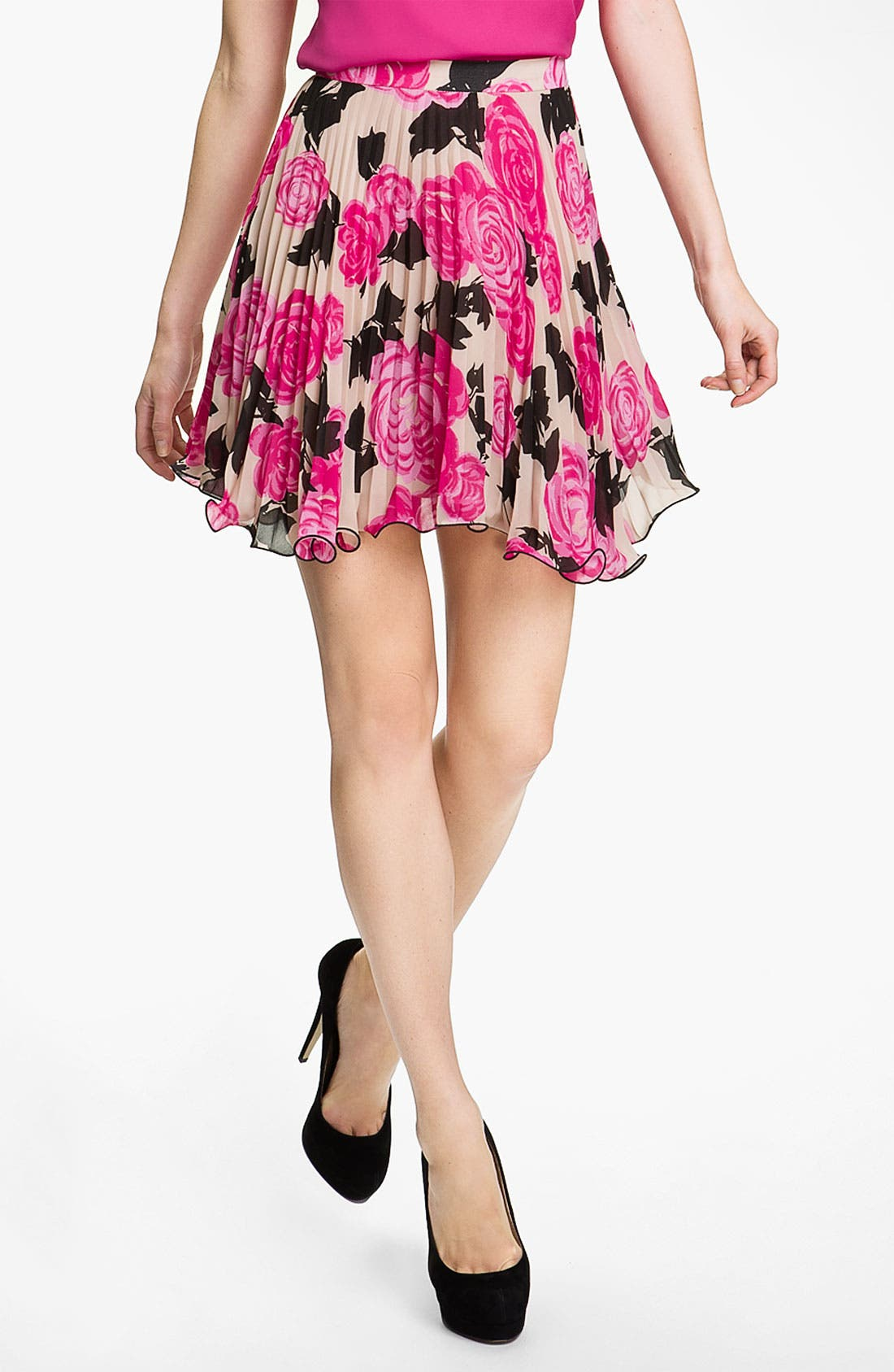 Main Image - Milly Print Flare Skirt