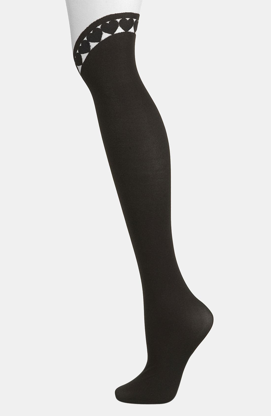 Alternate Image 1 Selected - Topshop 'Curved Heart' Tights