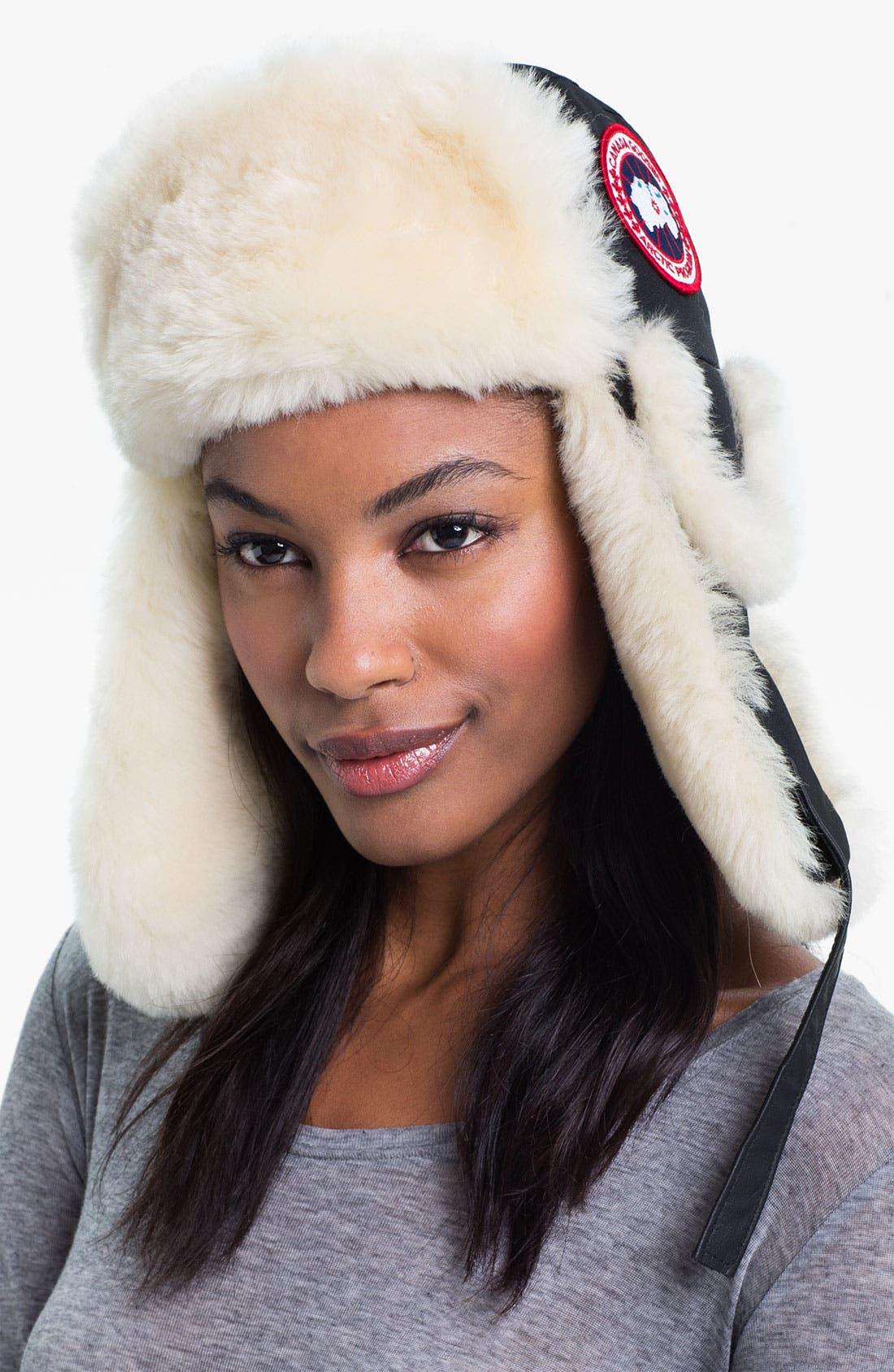 Alternate Image 1 Selected - Canada Goose Genuine Shearling Pilot Hat