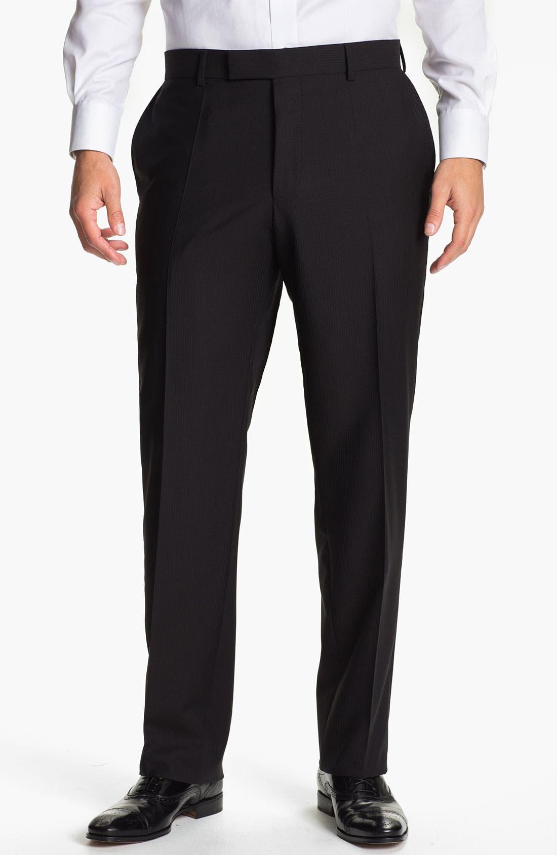 Alternate Image 1 Selected - BOSS Black 'James Brown' Stripe Wool Trousers