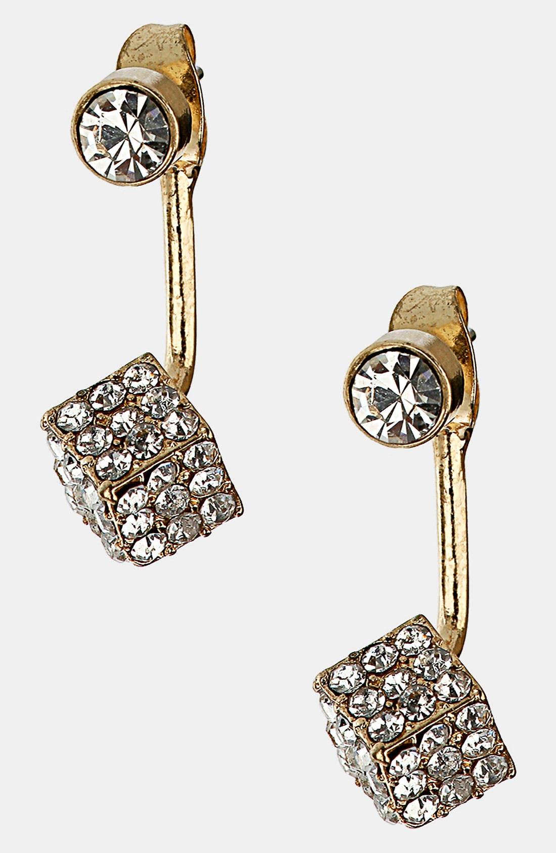 Main Image - Topshop 'Cube Stone' Drop Earrings.