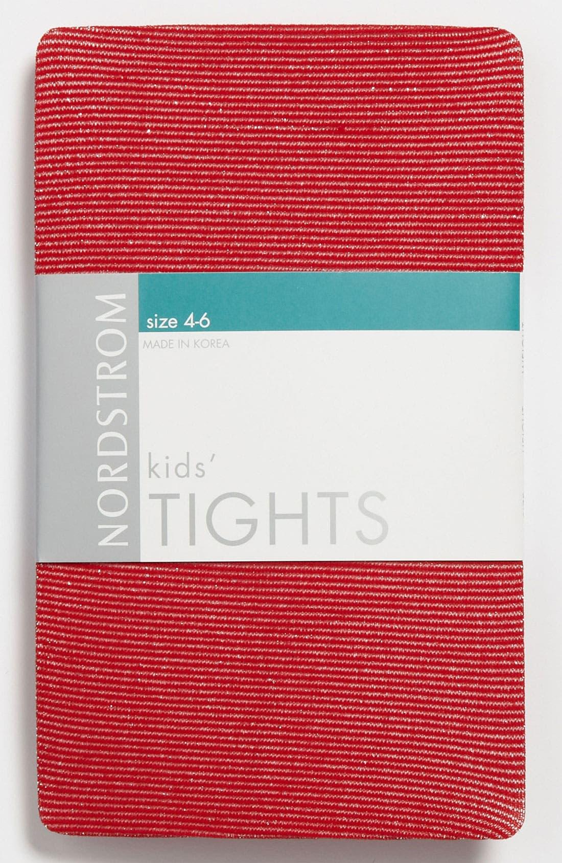 Alternate Image 1 Selected - Nordstrom 'Sparkle Stripe' Tights (Girls)