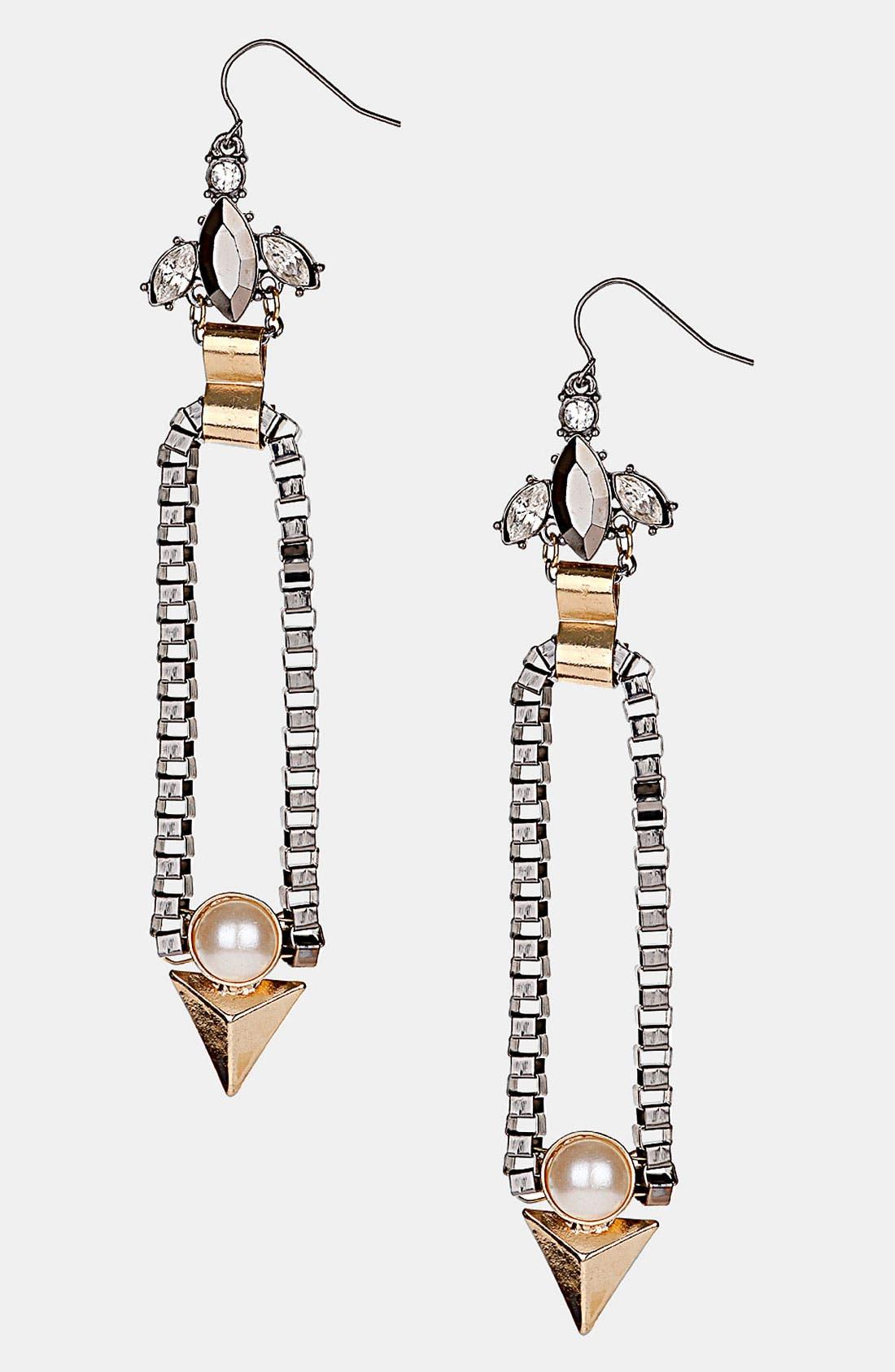 Main Image - Topshop 'Box' Drop Earrings